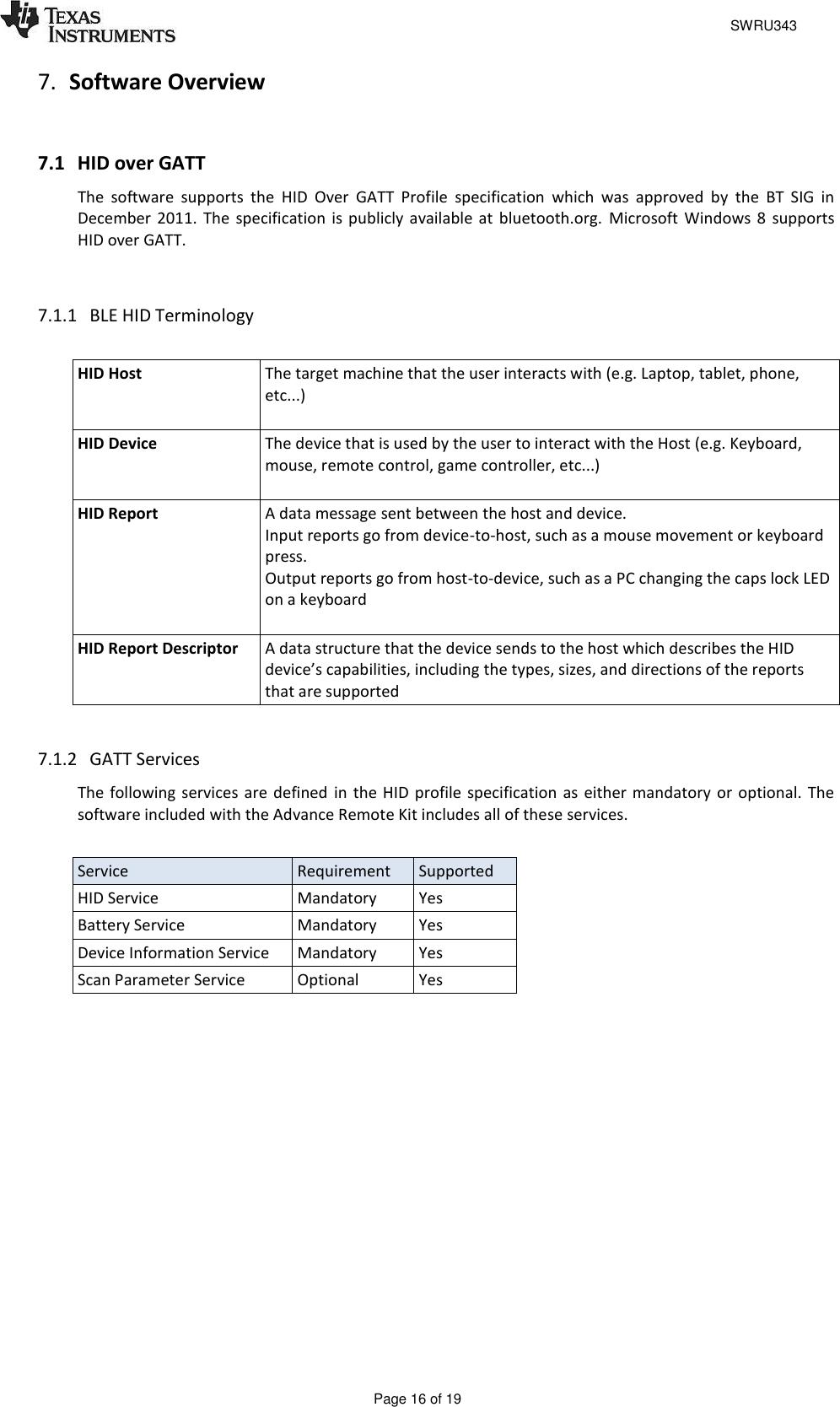 TI CC2541 ARC User Guide