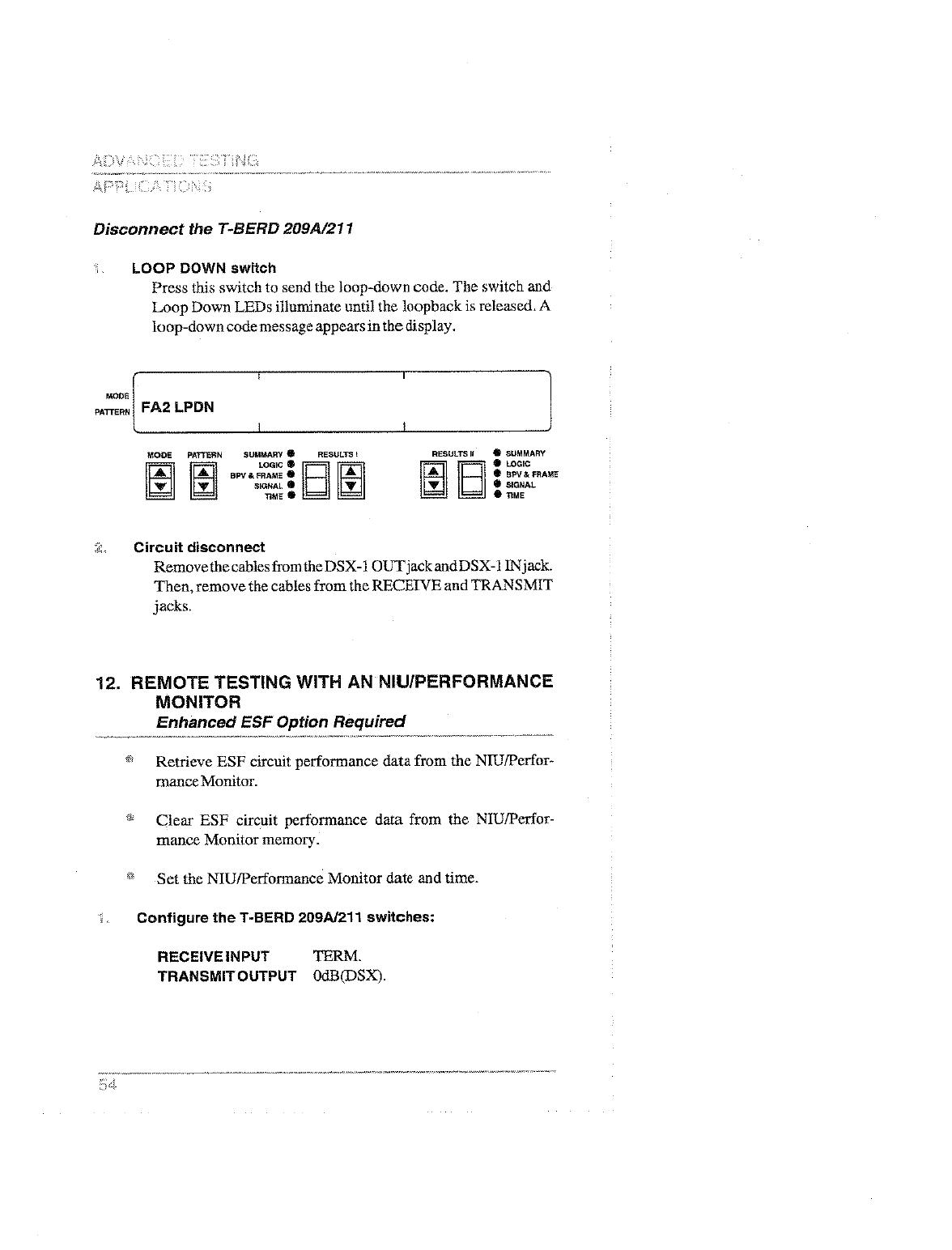 Ttc T Berd 209a 211 User Remote Tester Circuit 58492