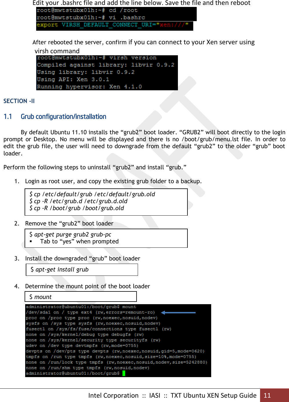 Software Design TXT Ubuntu XEN Setup Guide V7