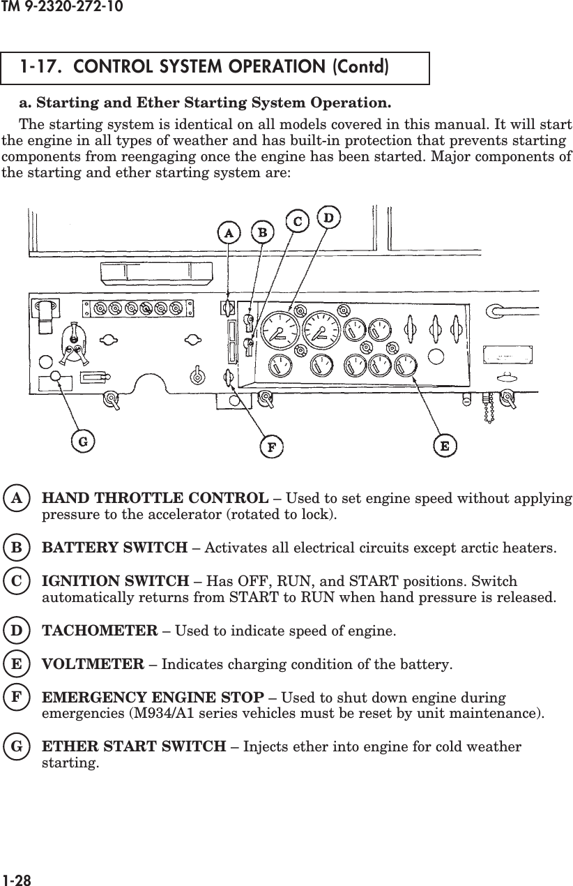 TM 9 2320 272 10 Technical and Operators Manual TM9 M Battery Cut Off Switch Wiring Diagram on