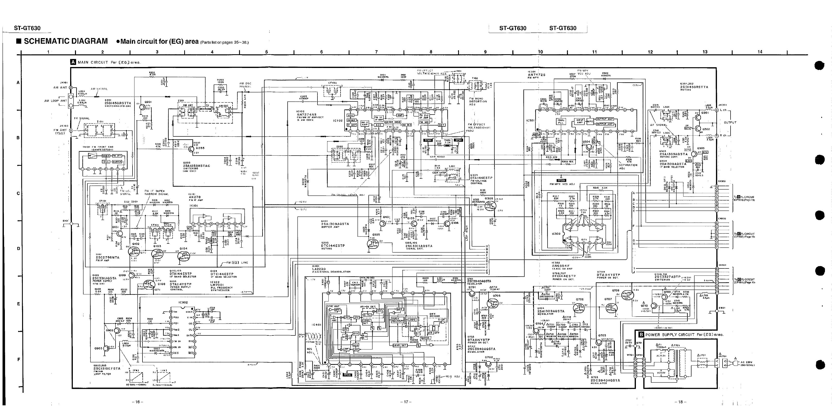 10 Technics St Gt 630 Service Manual C F L Circuit Diagram 34114