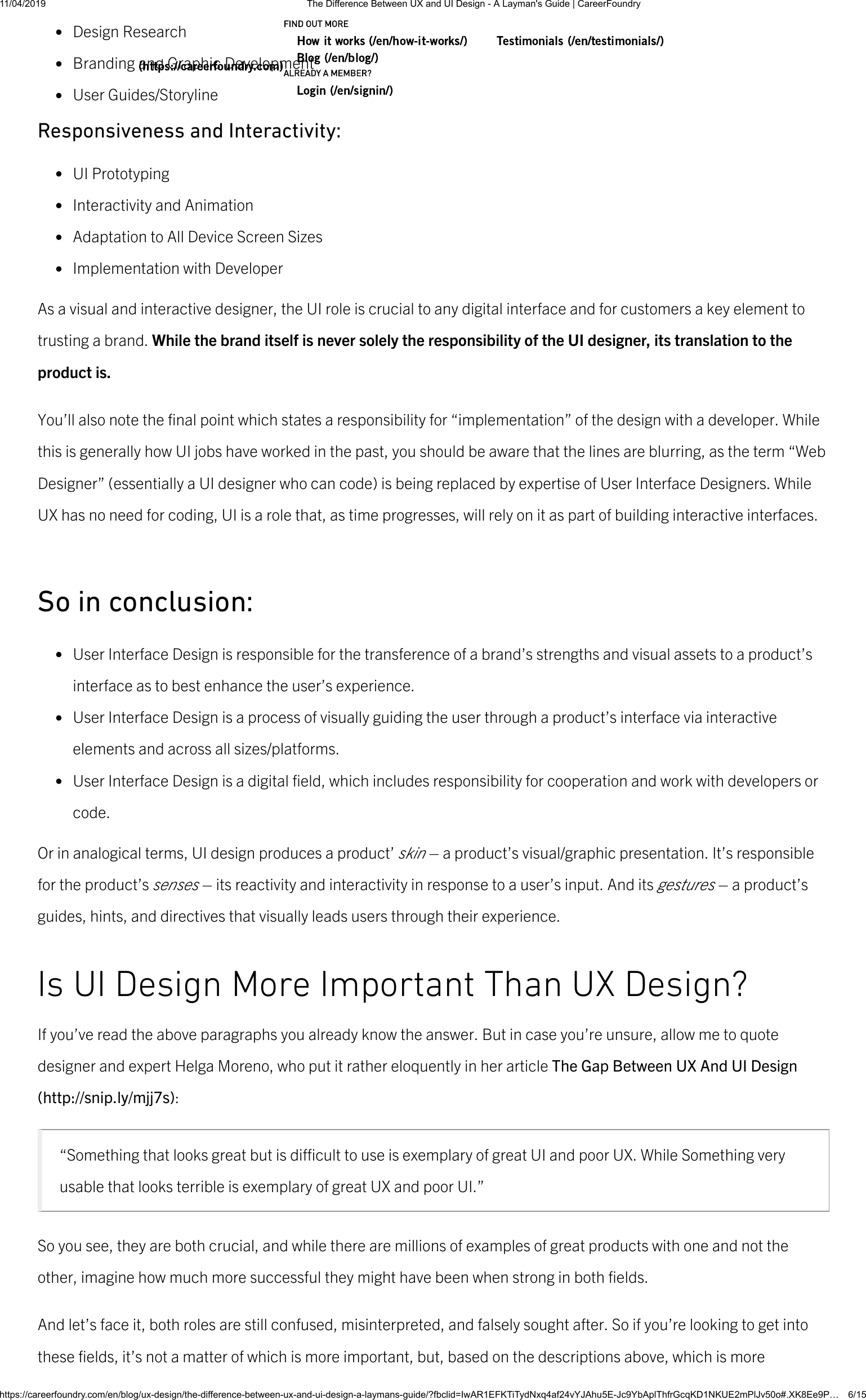 The Difference Between UX And UI Design A Layman's Guide
