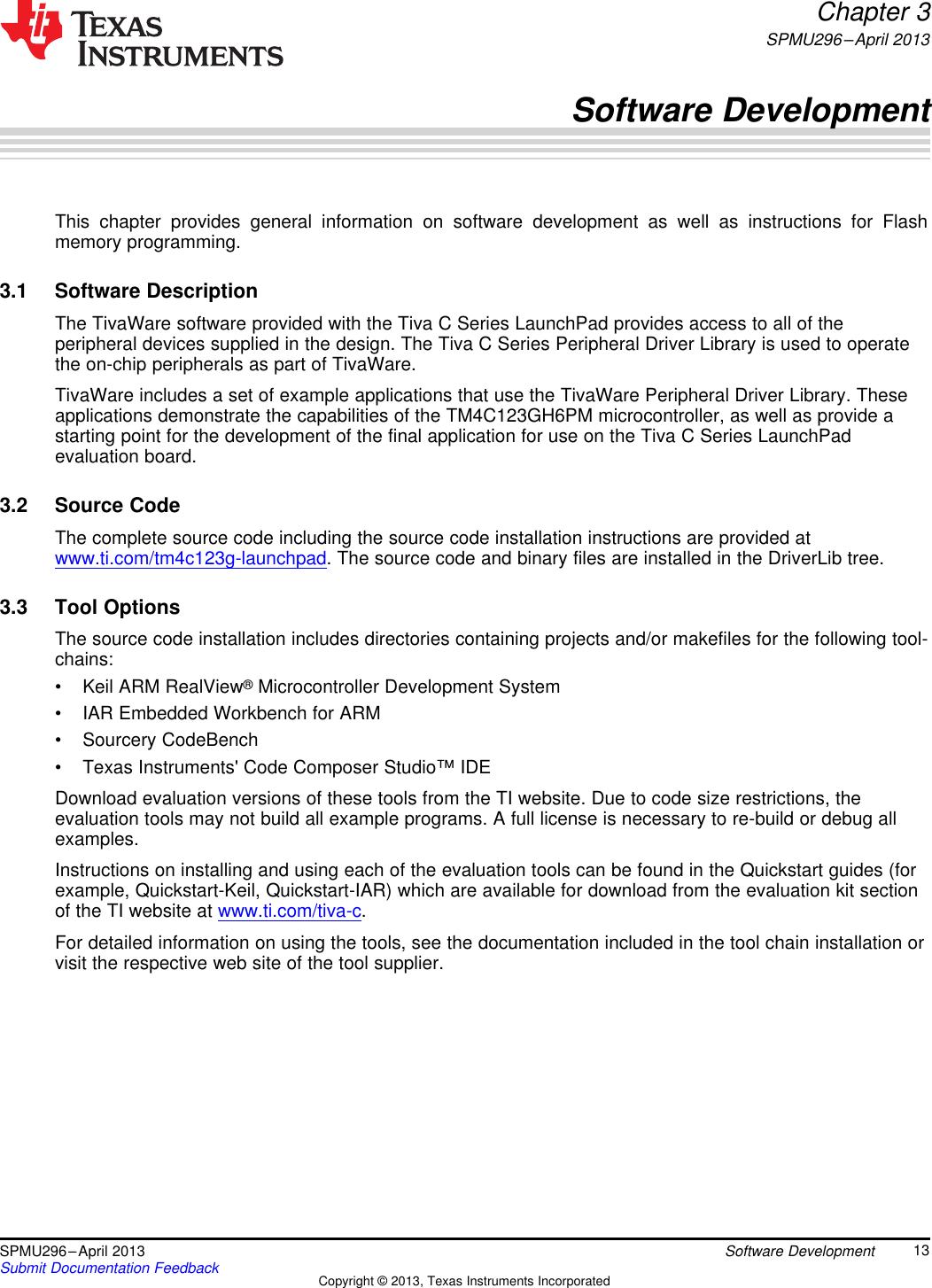 Tiva C Series TM4C123G LaunchPad Evaluation Kit User's Manual Users