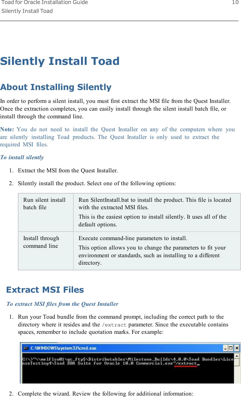 Silent Install Cmd