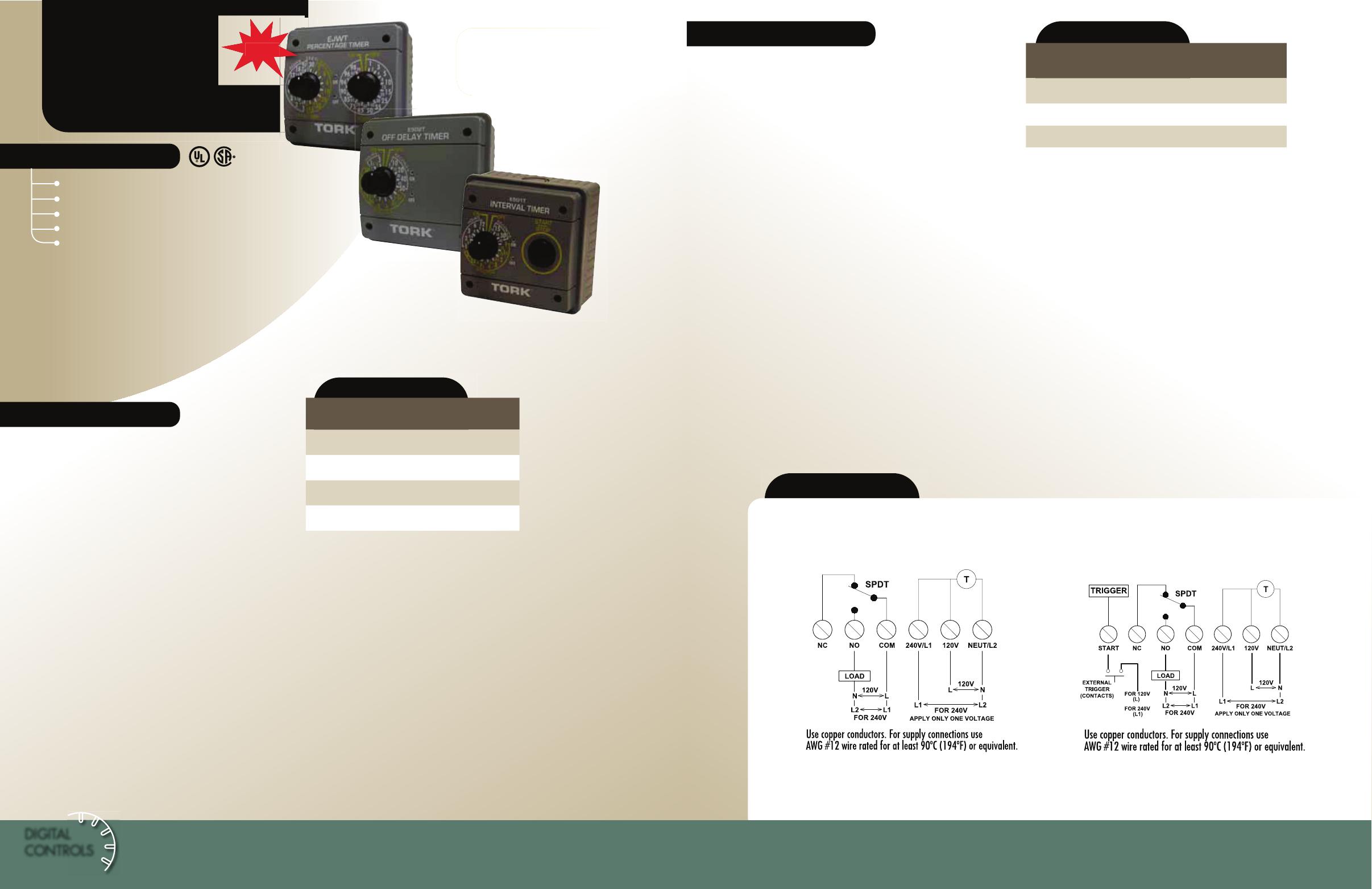 Tork Catalog Ejwt E500t Series Time Clock Wiring Diagram