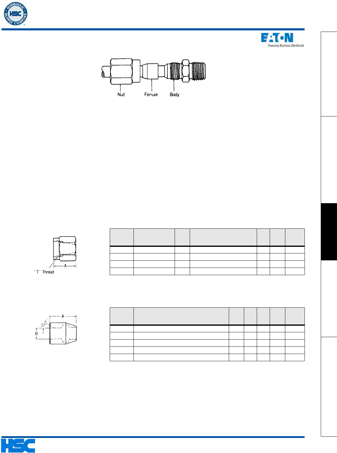 Long Nut Eaton Weatherhead 41X8 Brass CA360 SAE 45 Degree Flare 1//2 Tube OD