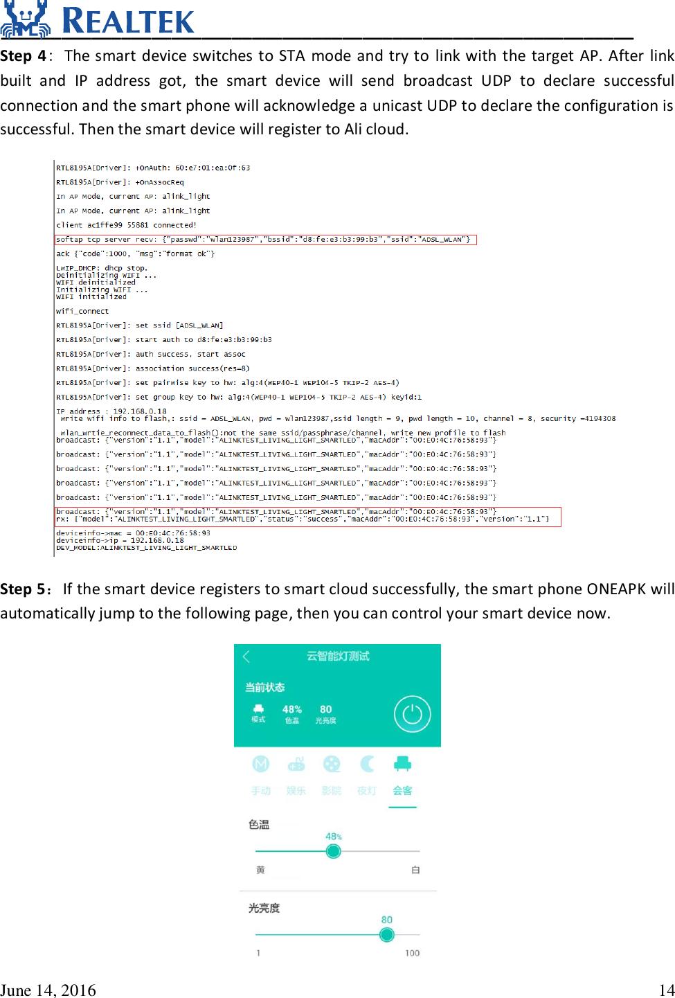 UM0094 Realtek Ameba 1 Alink User Guide