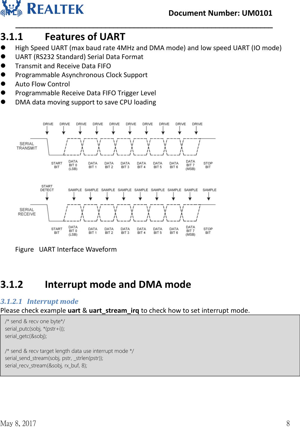 NFC Control UM0101 Realtek Ameba 1 Peripheral Developerment User Manual