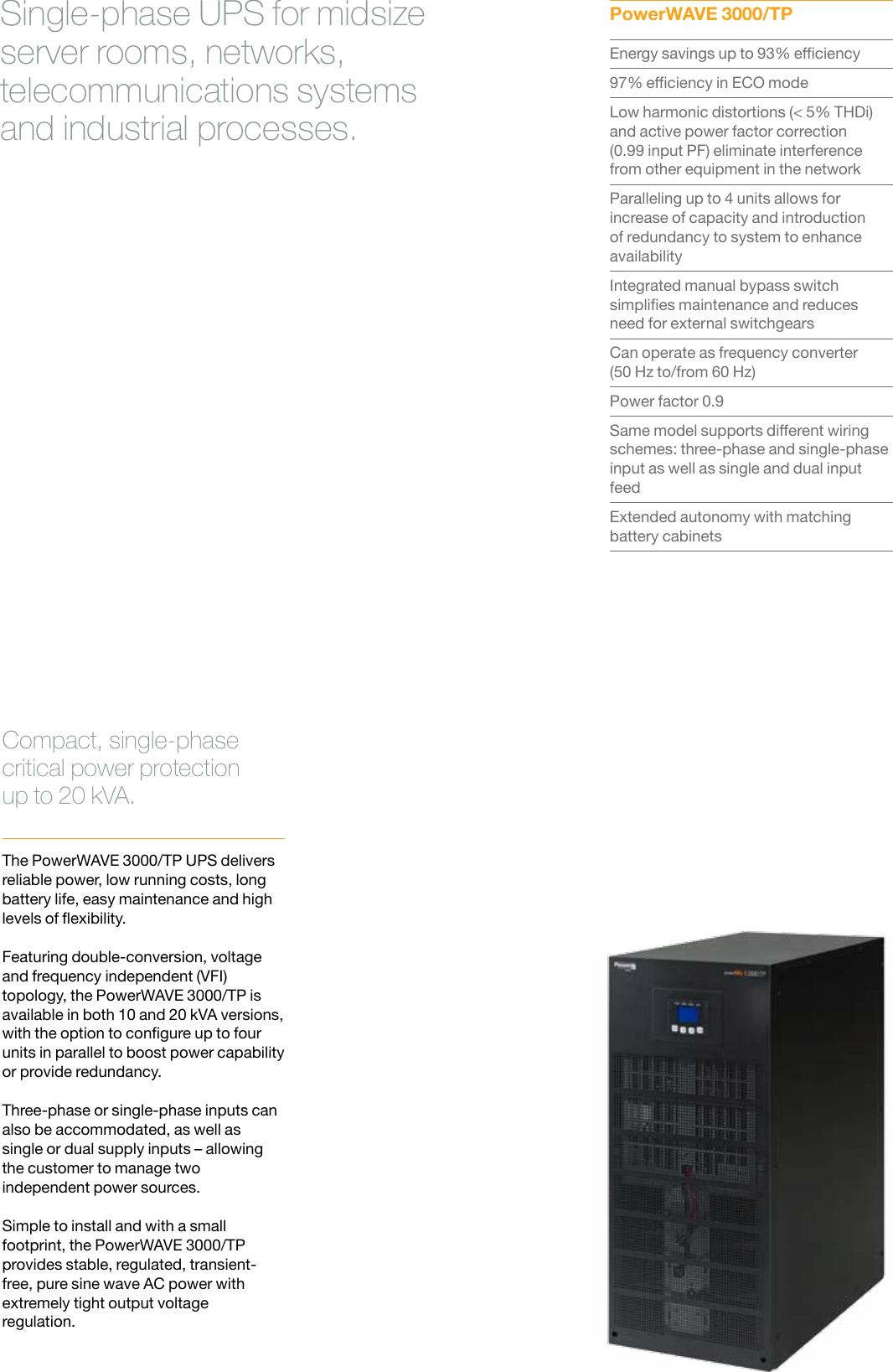 UPS Power WAVE 3000TP