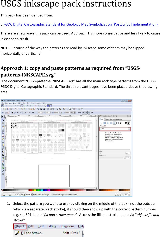 USGS Inkscape Pack Instructions