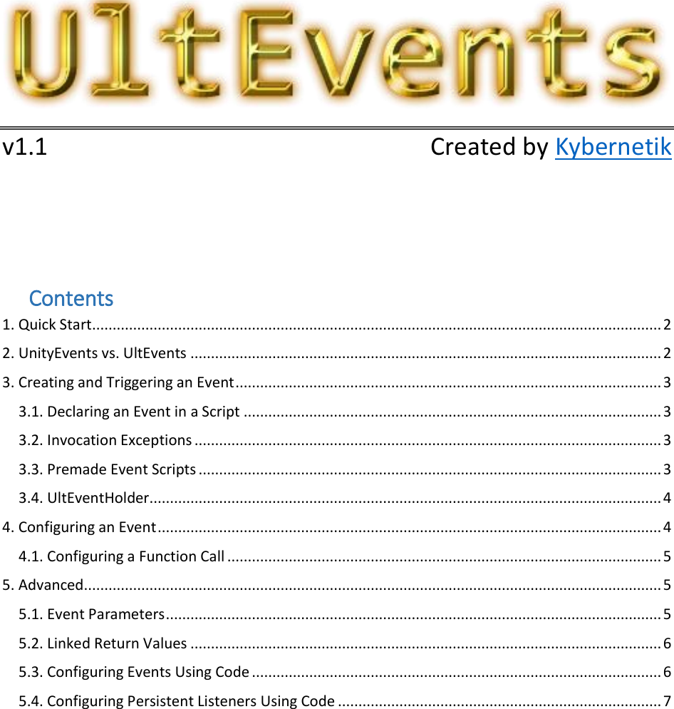 Ult Events Manual