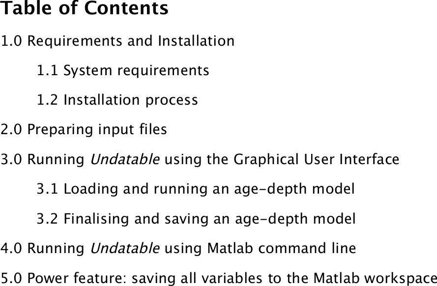 Undatable User Manual