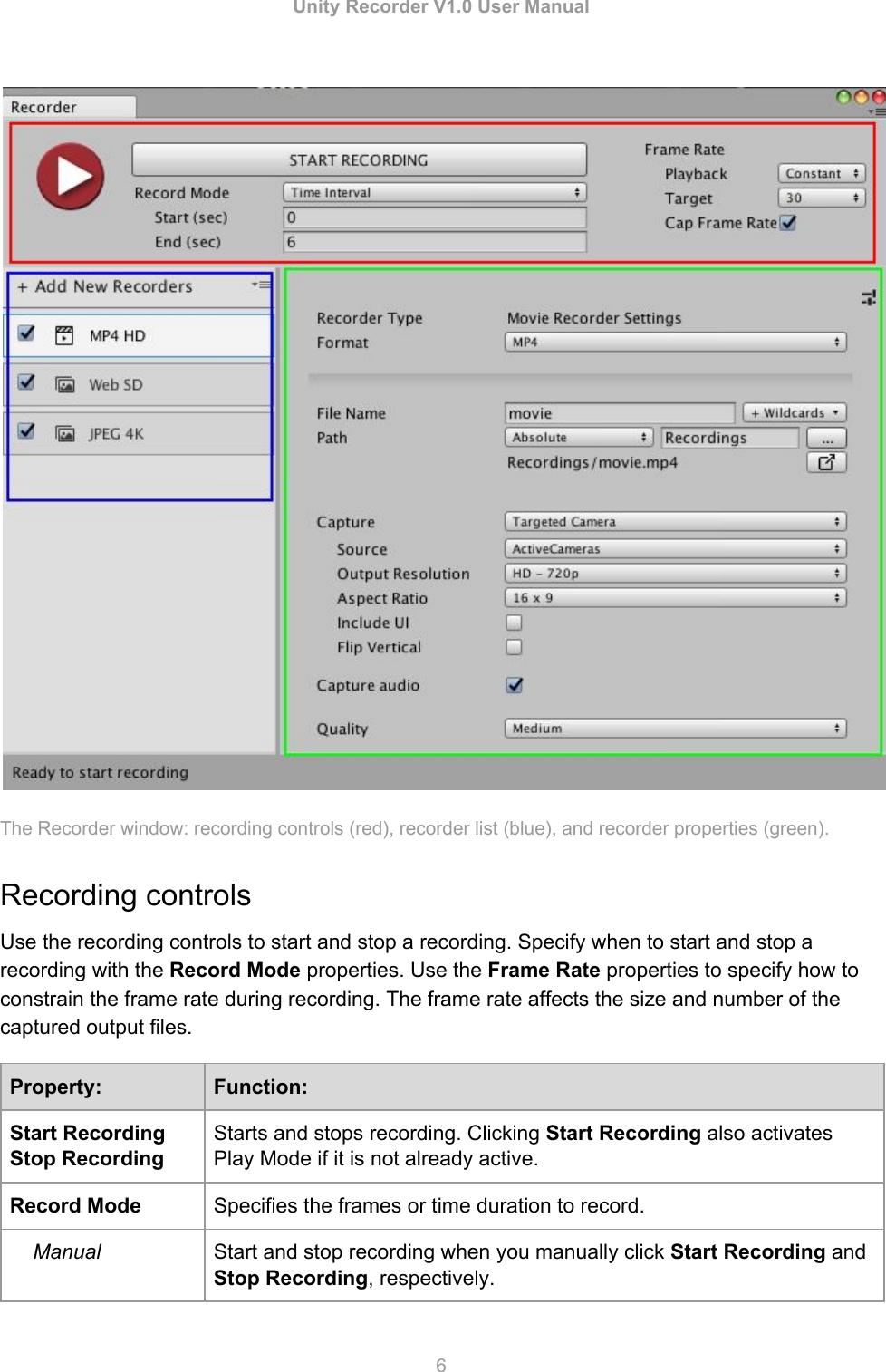 Unity Recorder V1User Manual