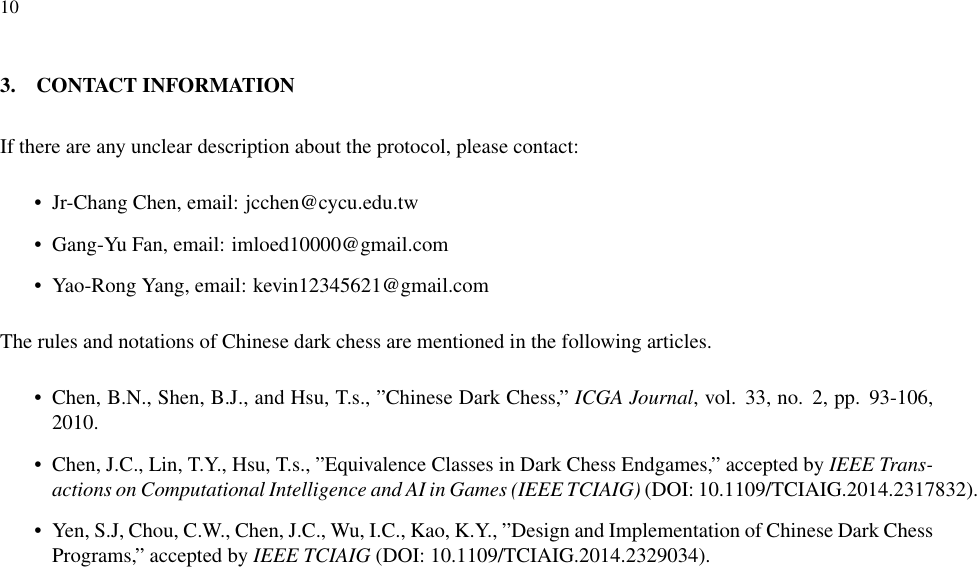 User Manual Of Chinese Dark Chess Client Linux