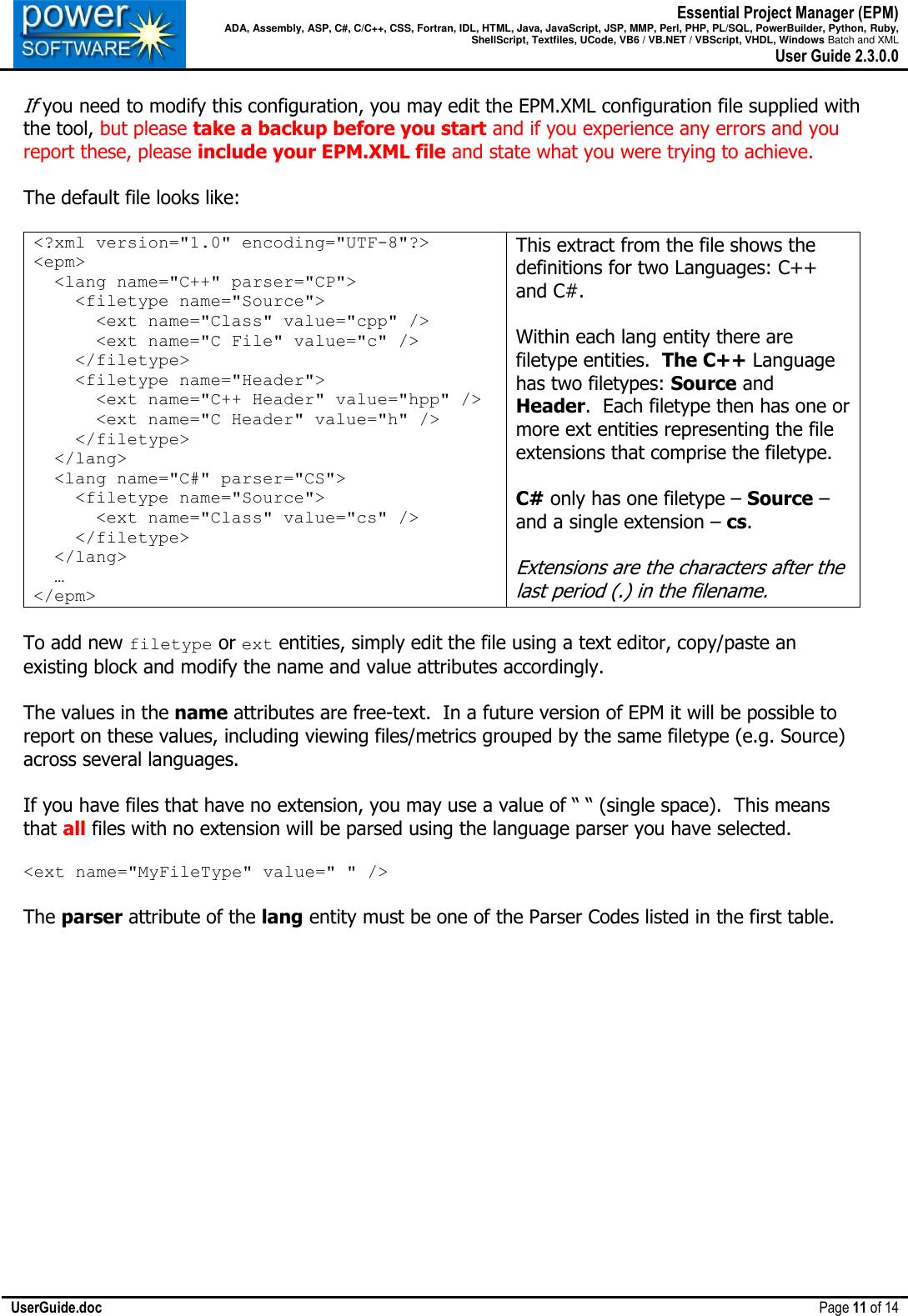 EPM User Guide