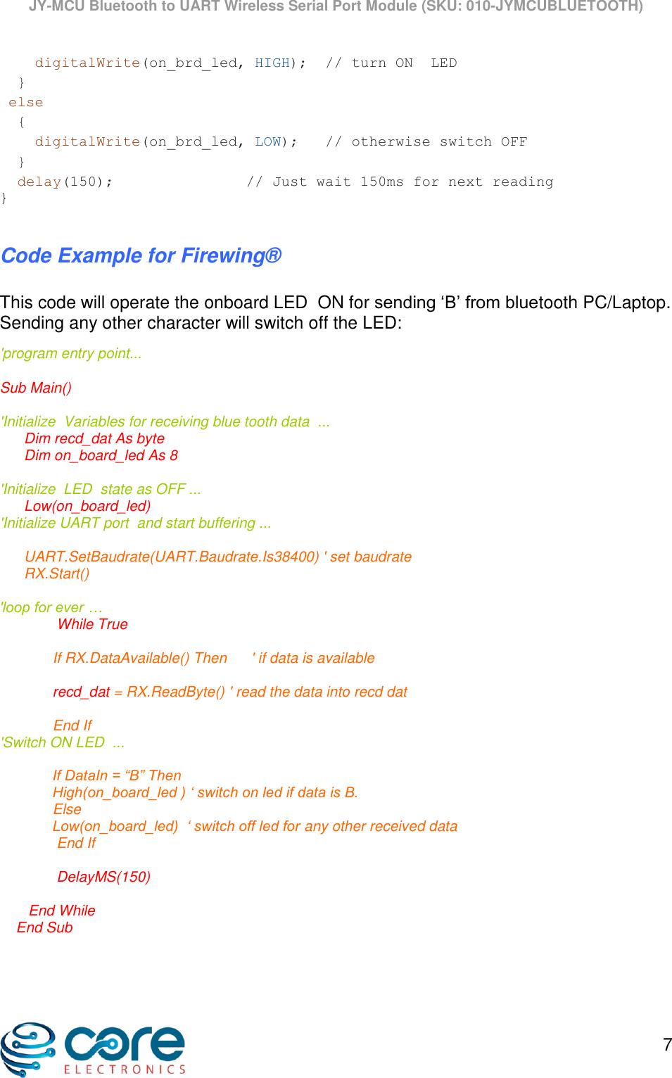 Uart Example Code