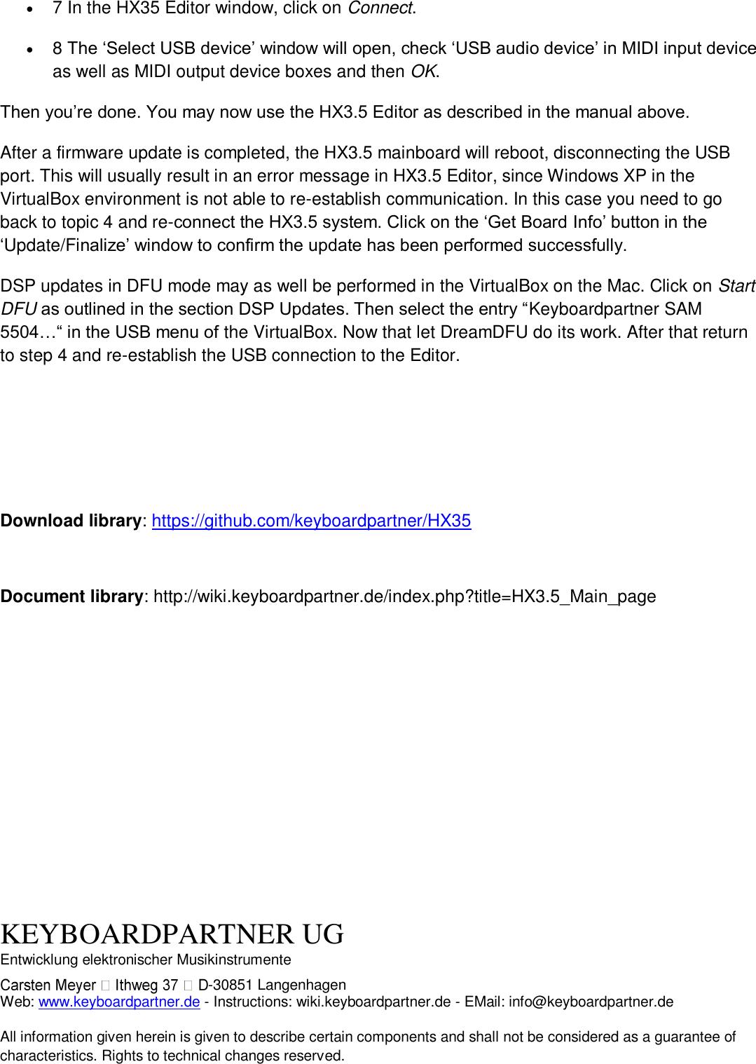 User Manual HX35 Editor