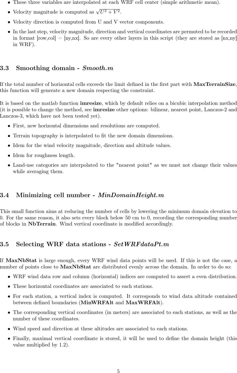 User guide WRF QUIC Coupling script