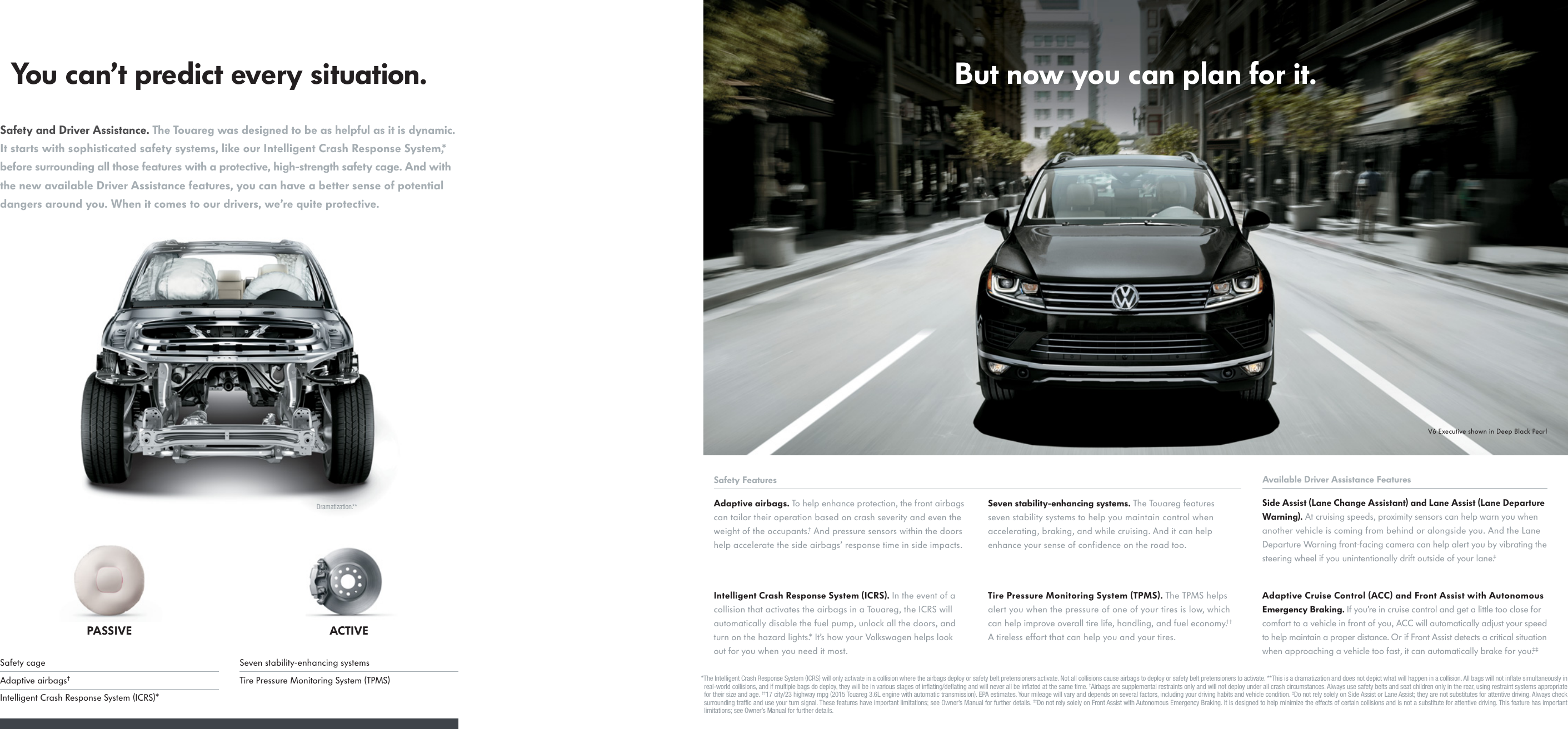 VWA 10185739_MY15_Touareg_Brochure_FC_BC_Singles 2015 Volkswagen