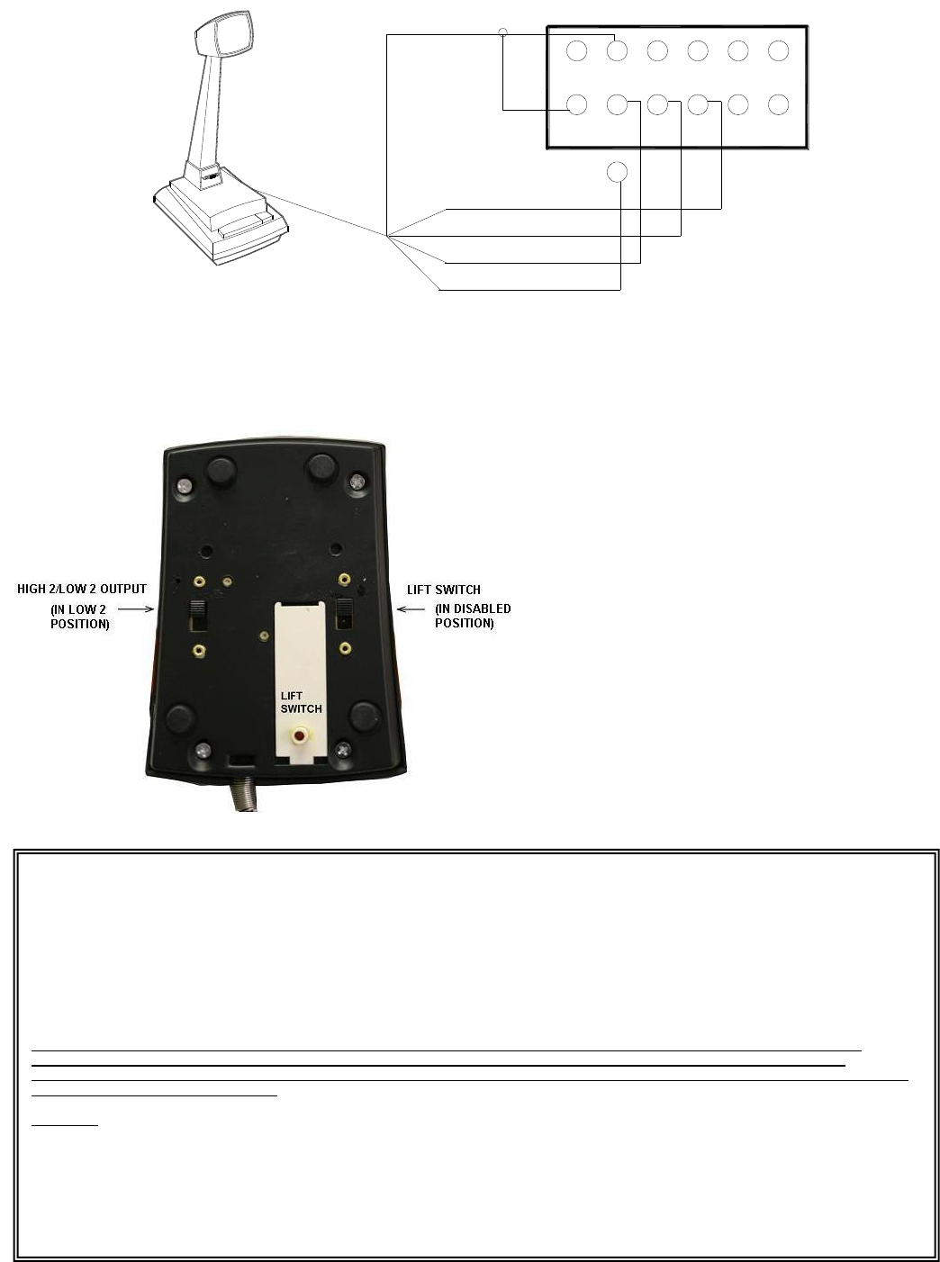 Valcom V 400 Desk Microphone Installation Manual on