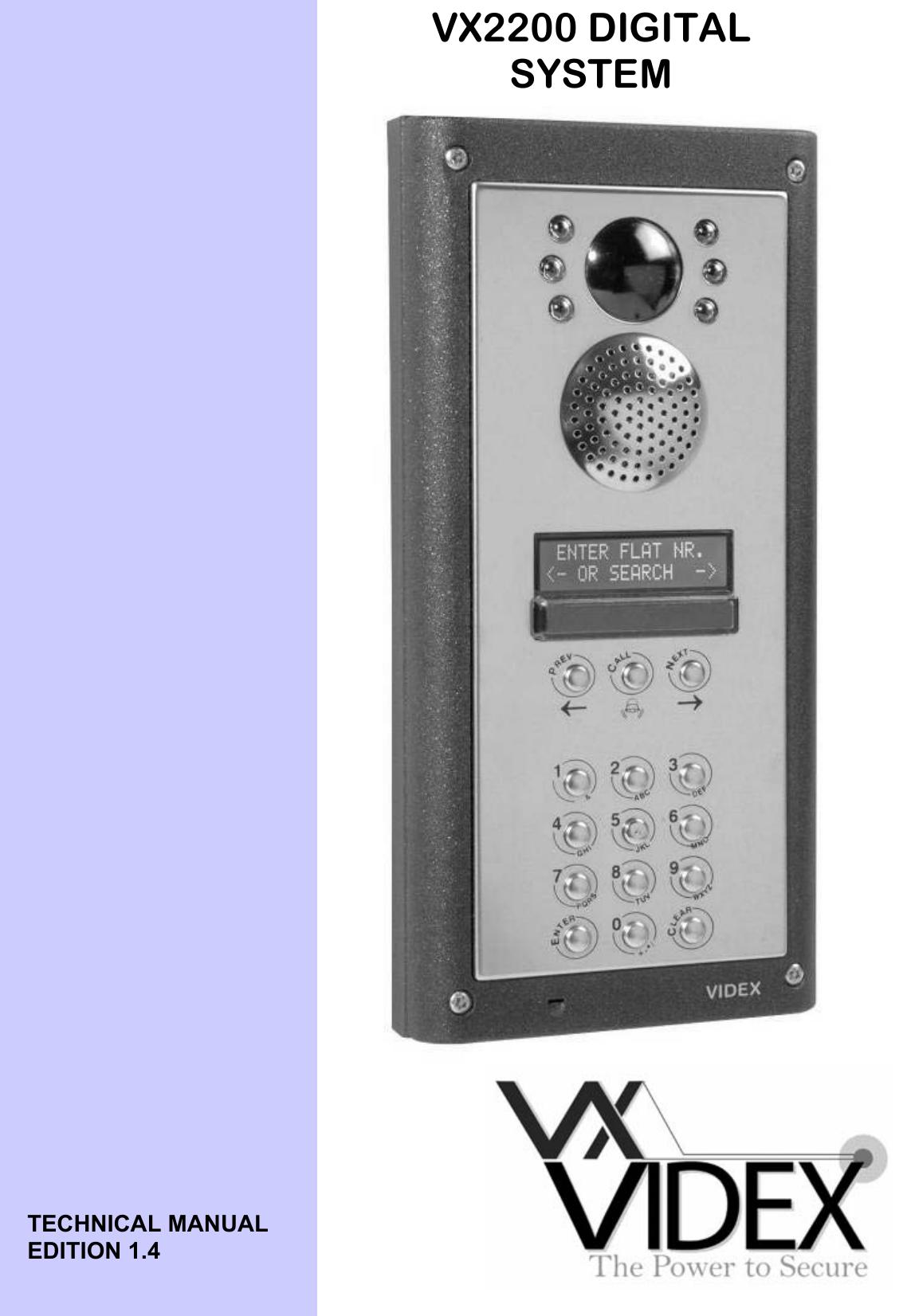 Vx2200manualukweb videx vx2200 digital system instructions asfbconference2016 Images