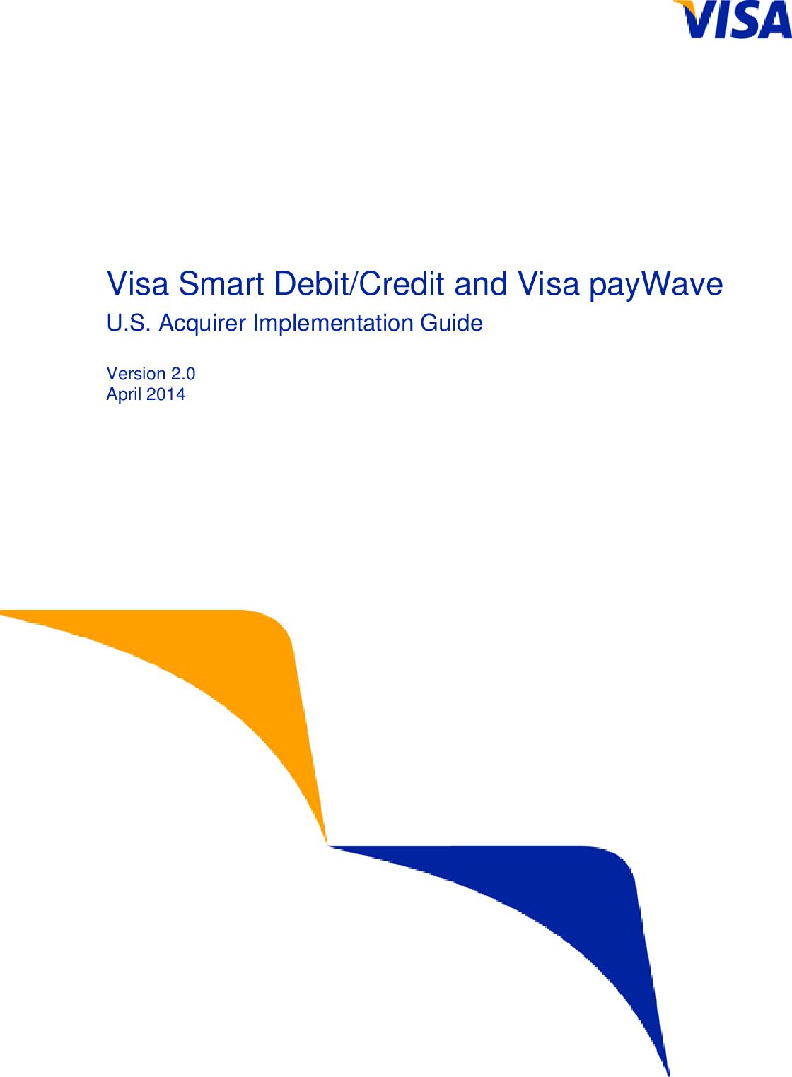 VSDC And Visa PayWave US Acquirer Implementation Guide V2