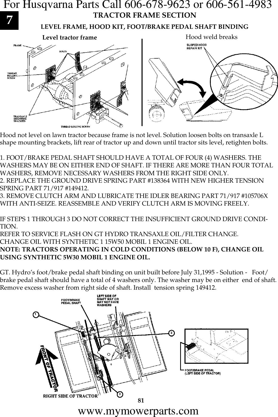 Workshop Manual, EHP/ FHP Lawn & Garden Service, 1999 09