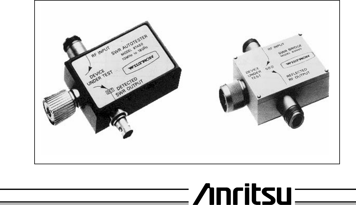 Wiltron Model 560-97A50-1 SWR Autotester 40dB Directivity