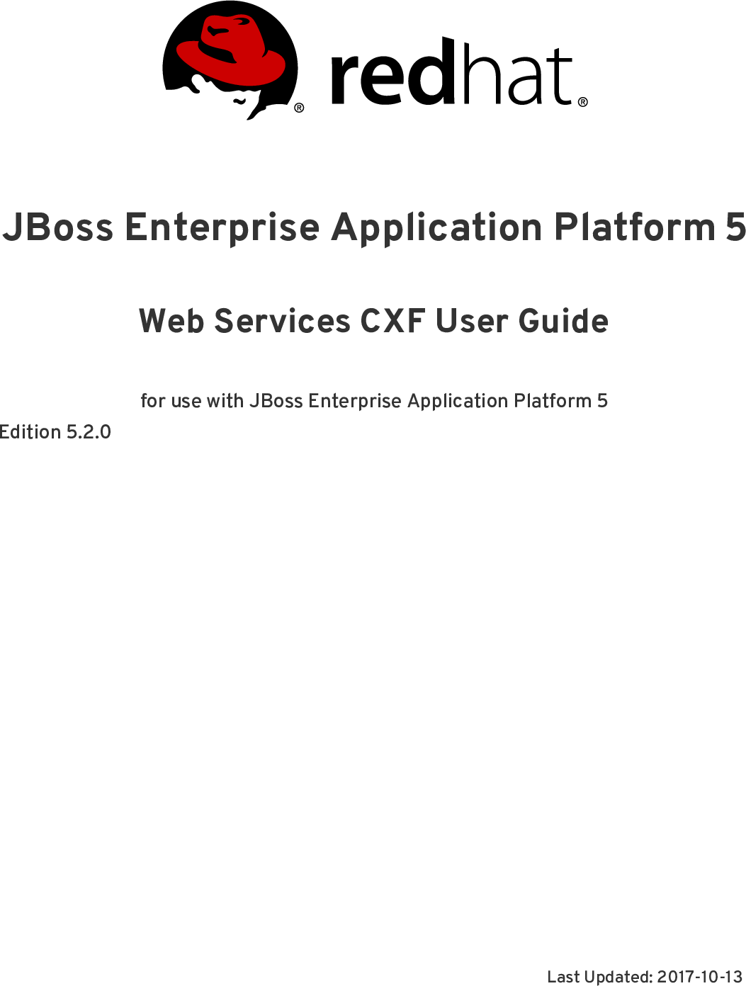 Web Services CXF User Guide Red Hat