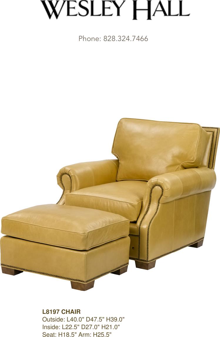 Swell Wesley Hall L8197 Uwap Interior Chair Design Uwaporg