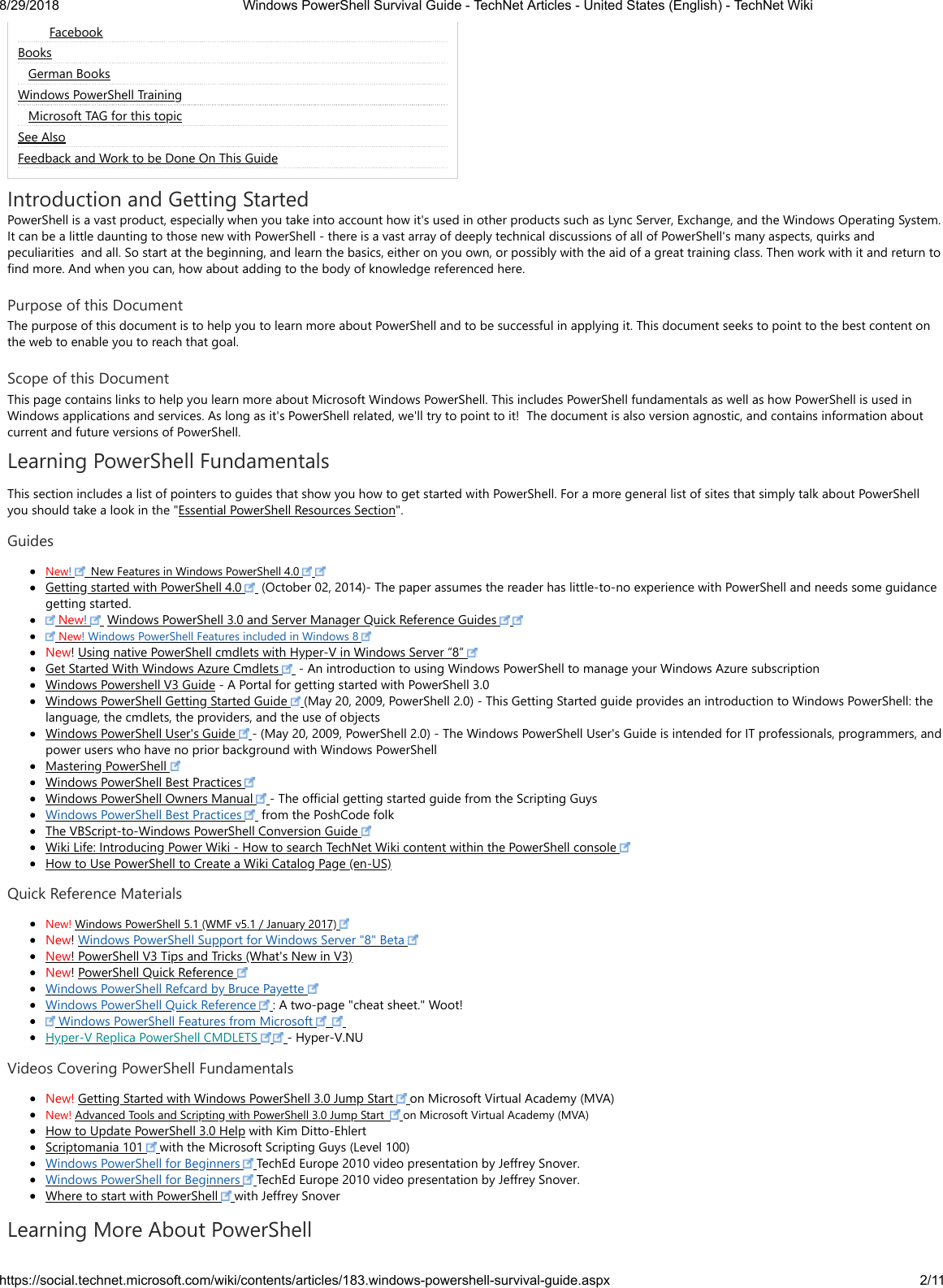 Windows Power Shell Survival Guide Tech Net Articles