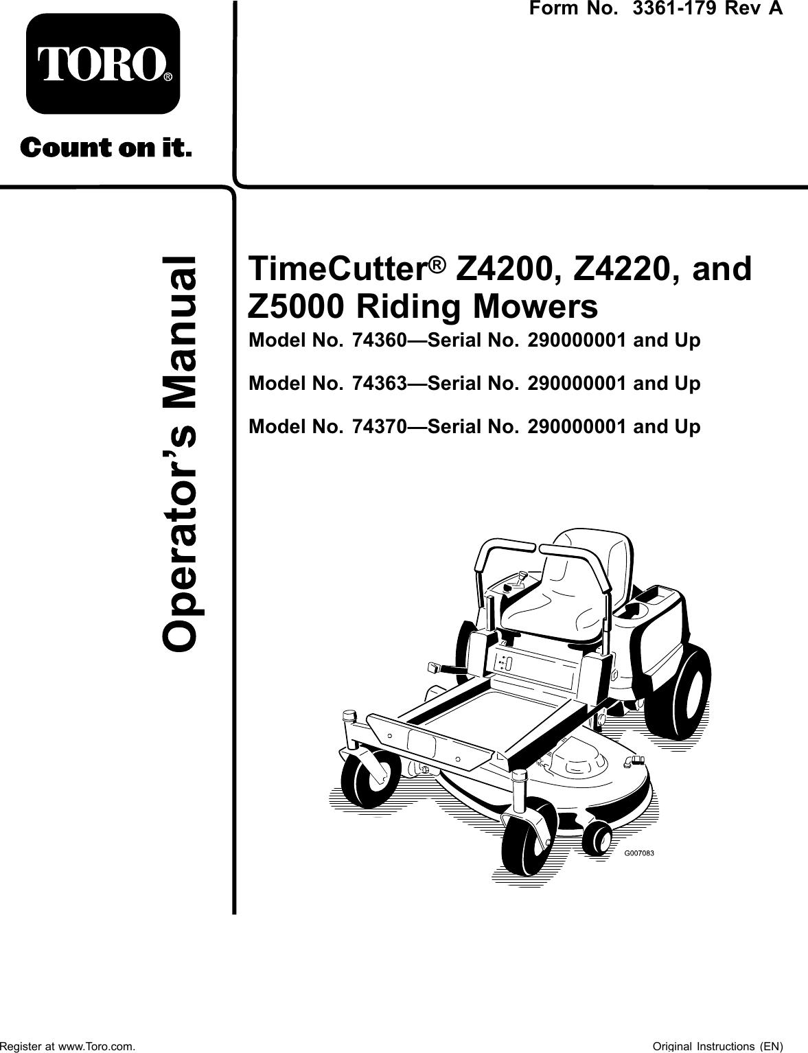 Z4200 Z4220 Man on toro timecutter z5060 starter parts, kubota ignition switch wiring diagram, toro timecutter diagram, toro 74370 parts model, wheel horse drive belt diagram, toro deck belt diagram, toro timecutter 5000 parts,