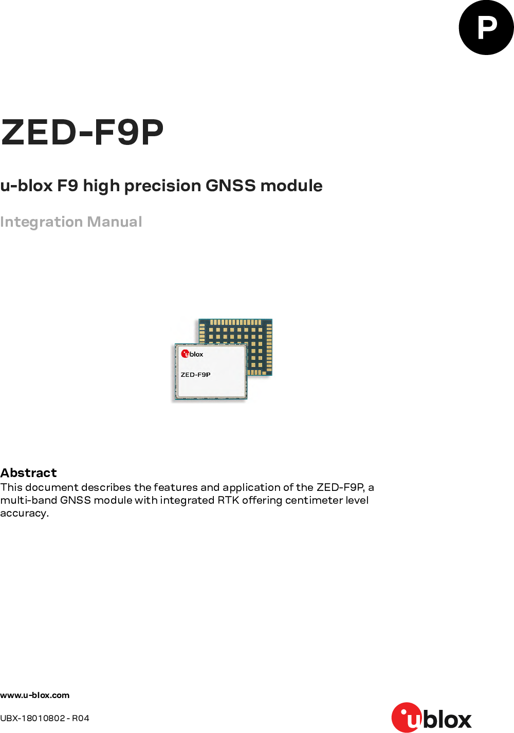ZED F9P Integration Manual
