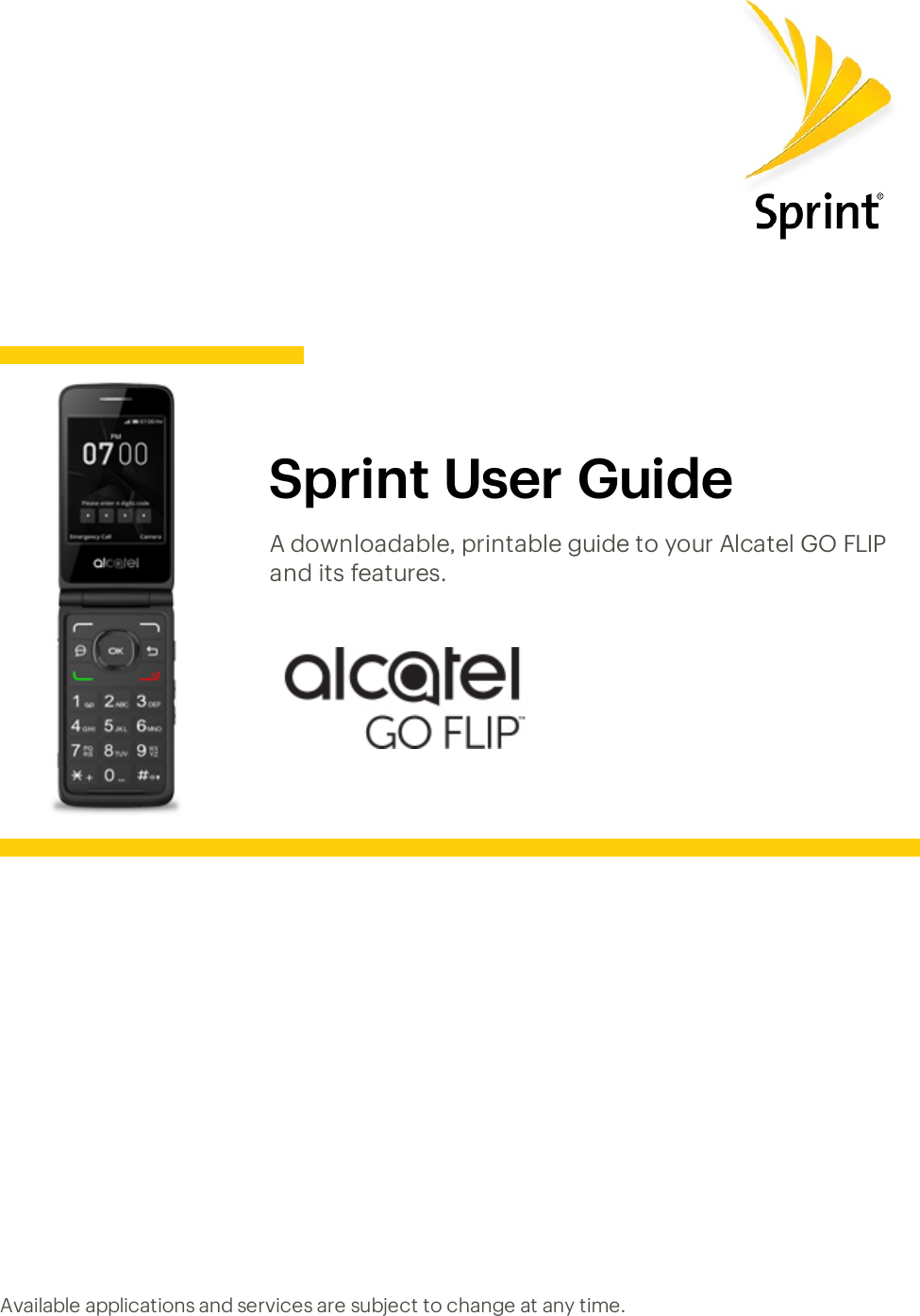 Alcatel GO FLIP User Guide Manual Ug