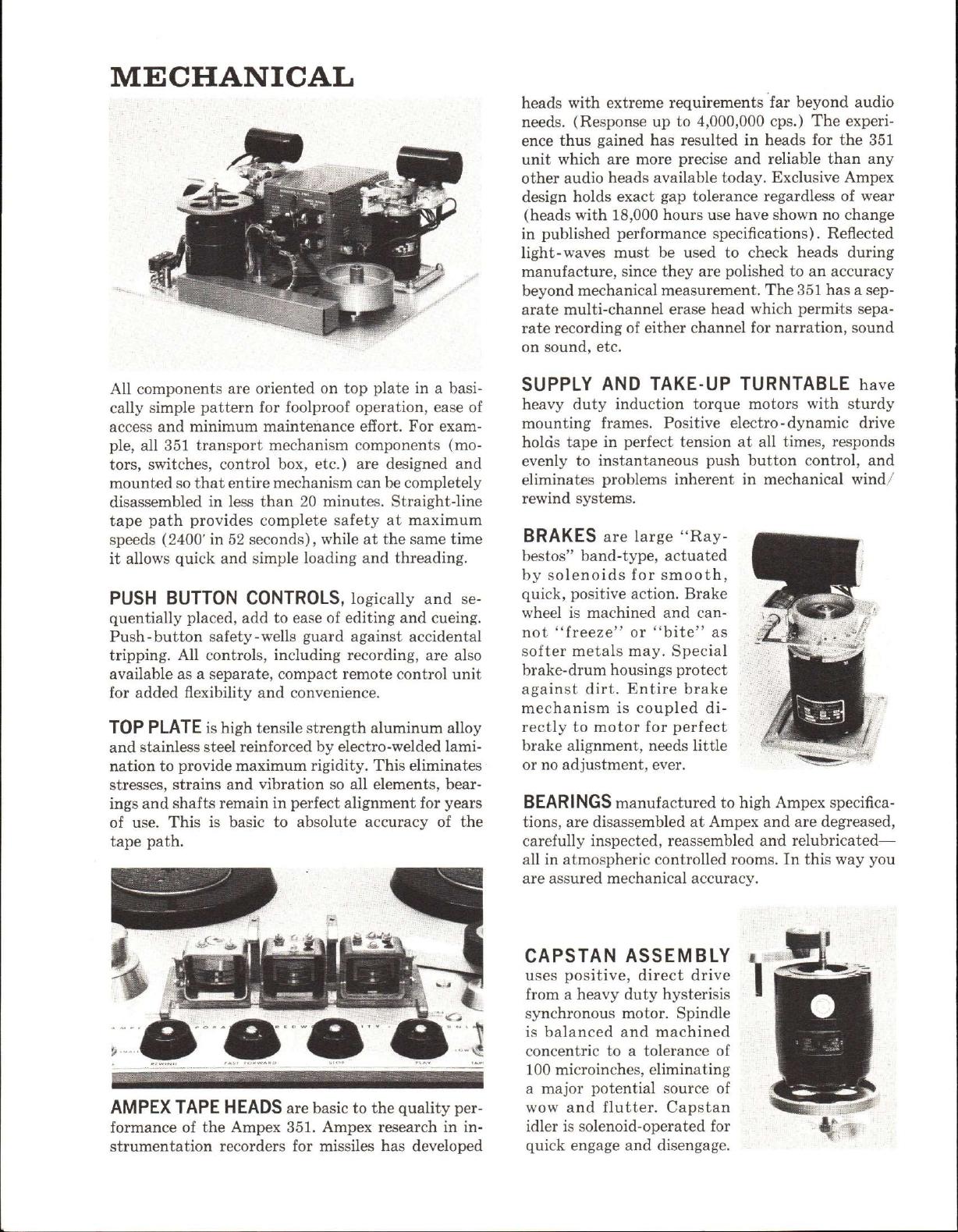 Ampex 351 Brochure