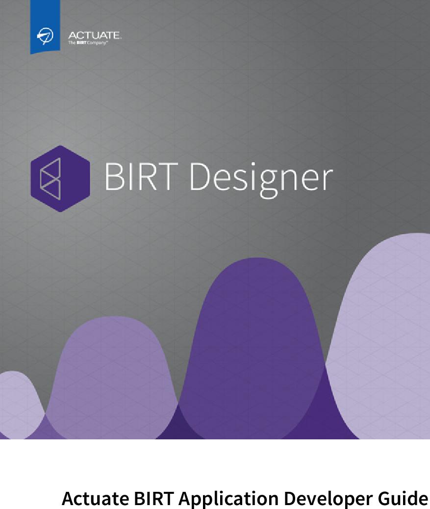 Actuate BIRT Application Developer Guide