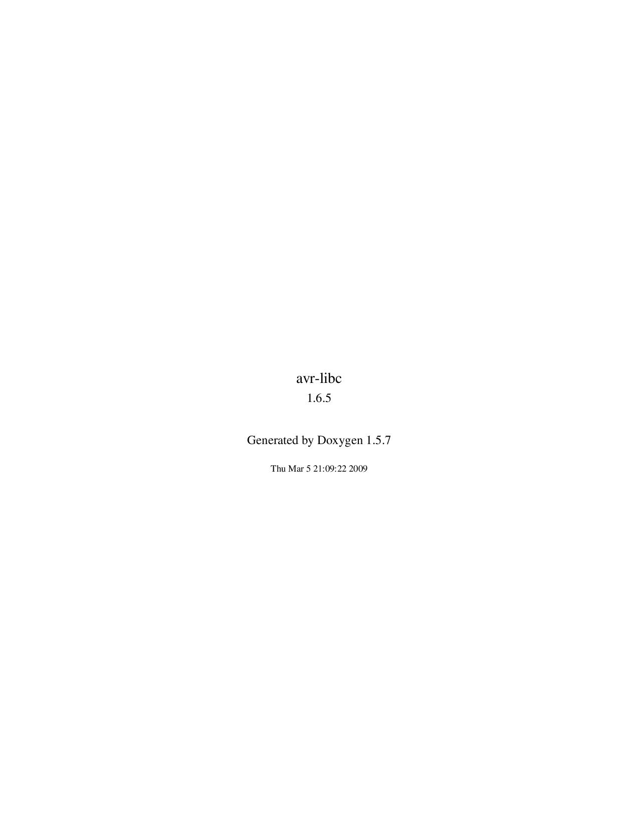 Avr libc user manual 1 6 5