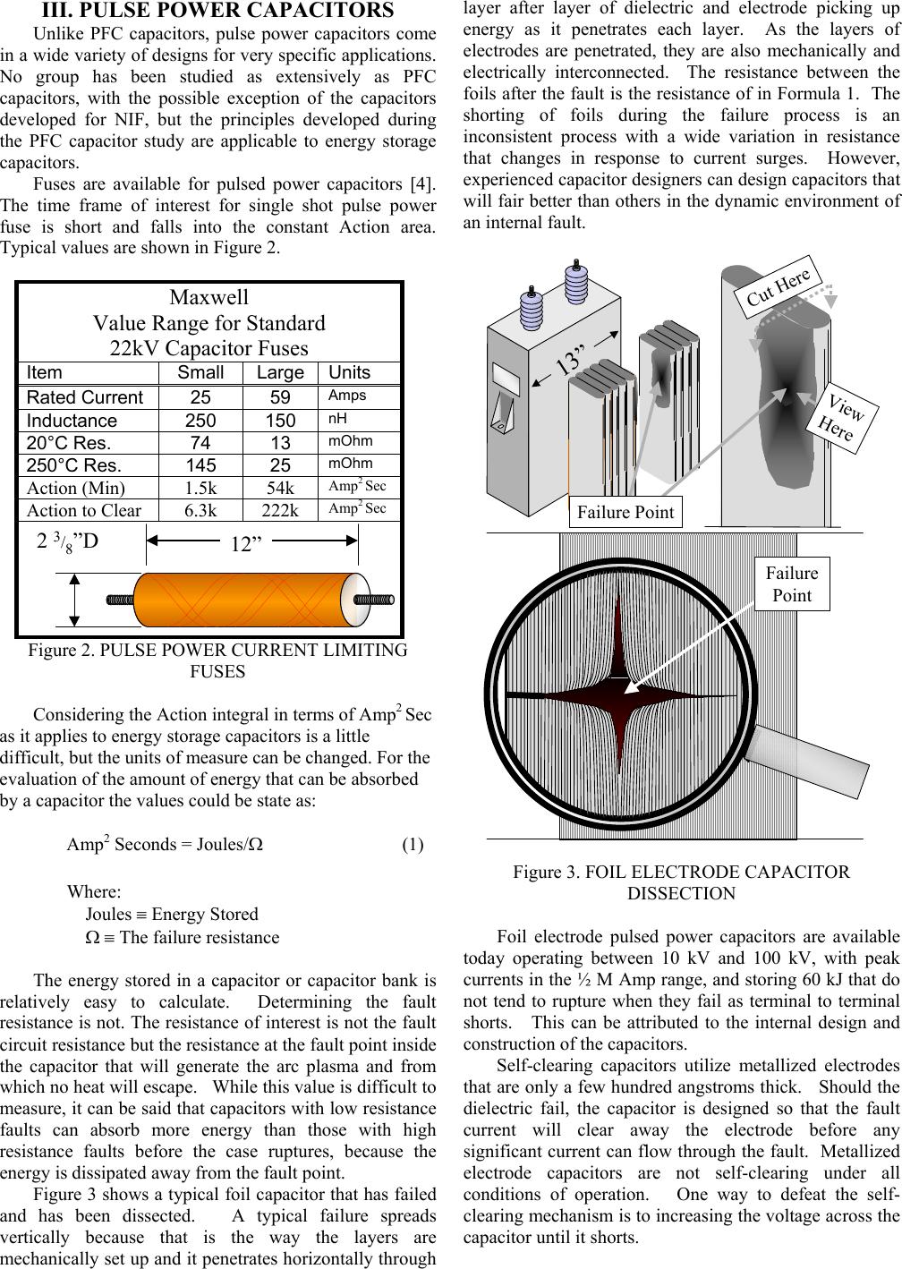 High Voltage Capacitors Designed To Avoid Catastrophic