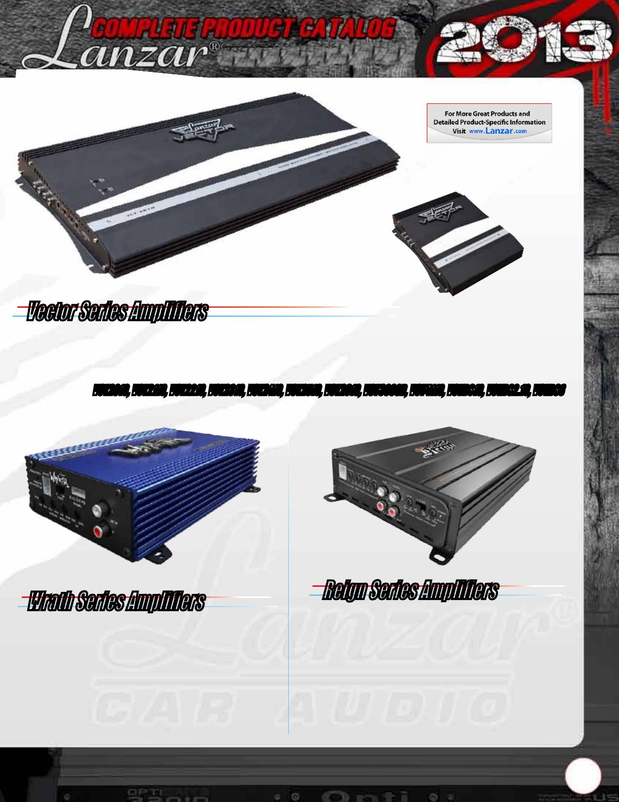 Lanzar Speakers Installation Instructions Max Mxa224 Catalog Ampkit4 4 Gauge Contaq Amplifier Wiring Kit Parts Vector Series Amplifiers