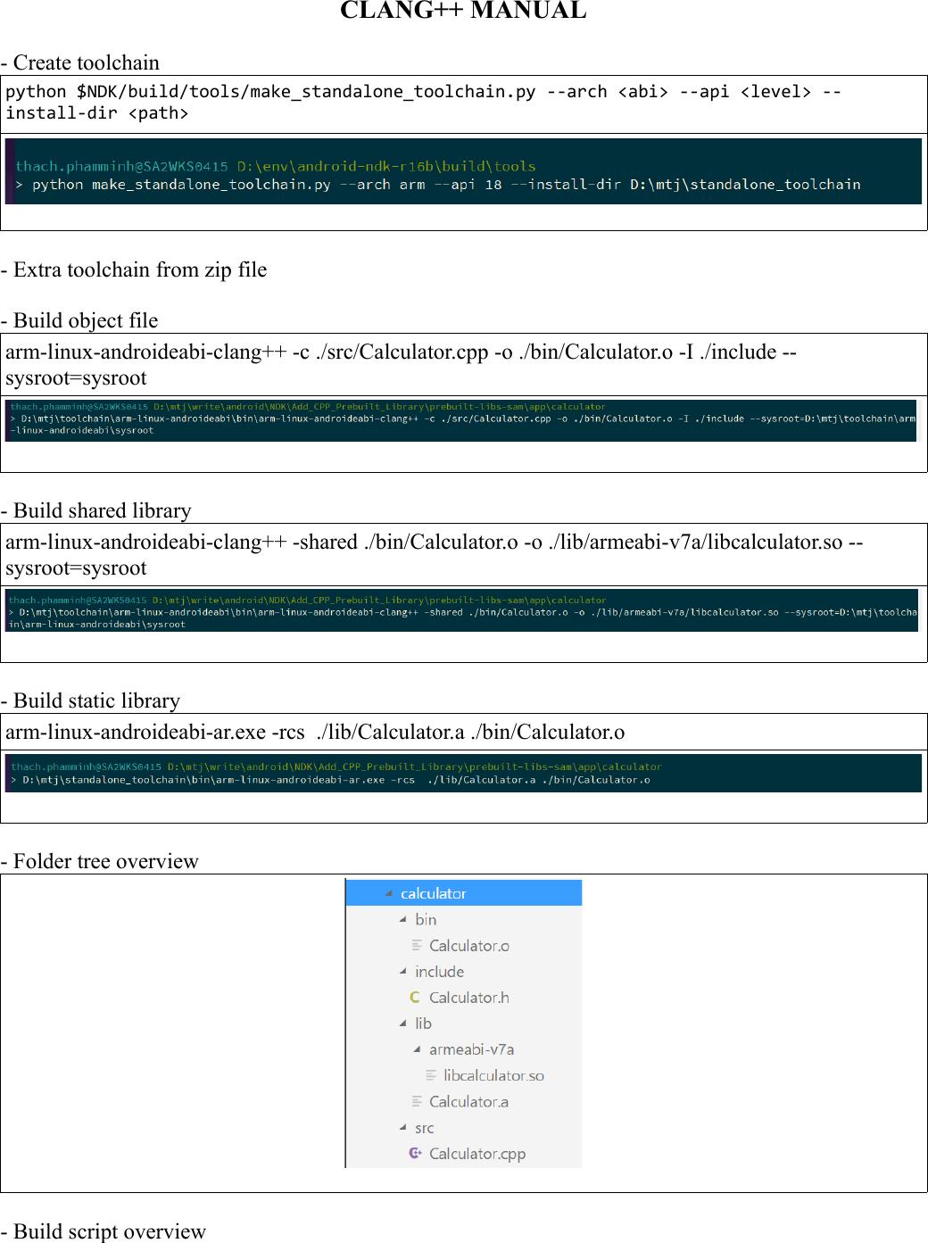 Clang++ Manual