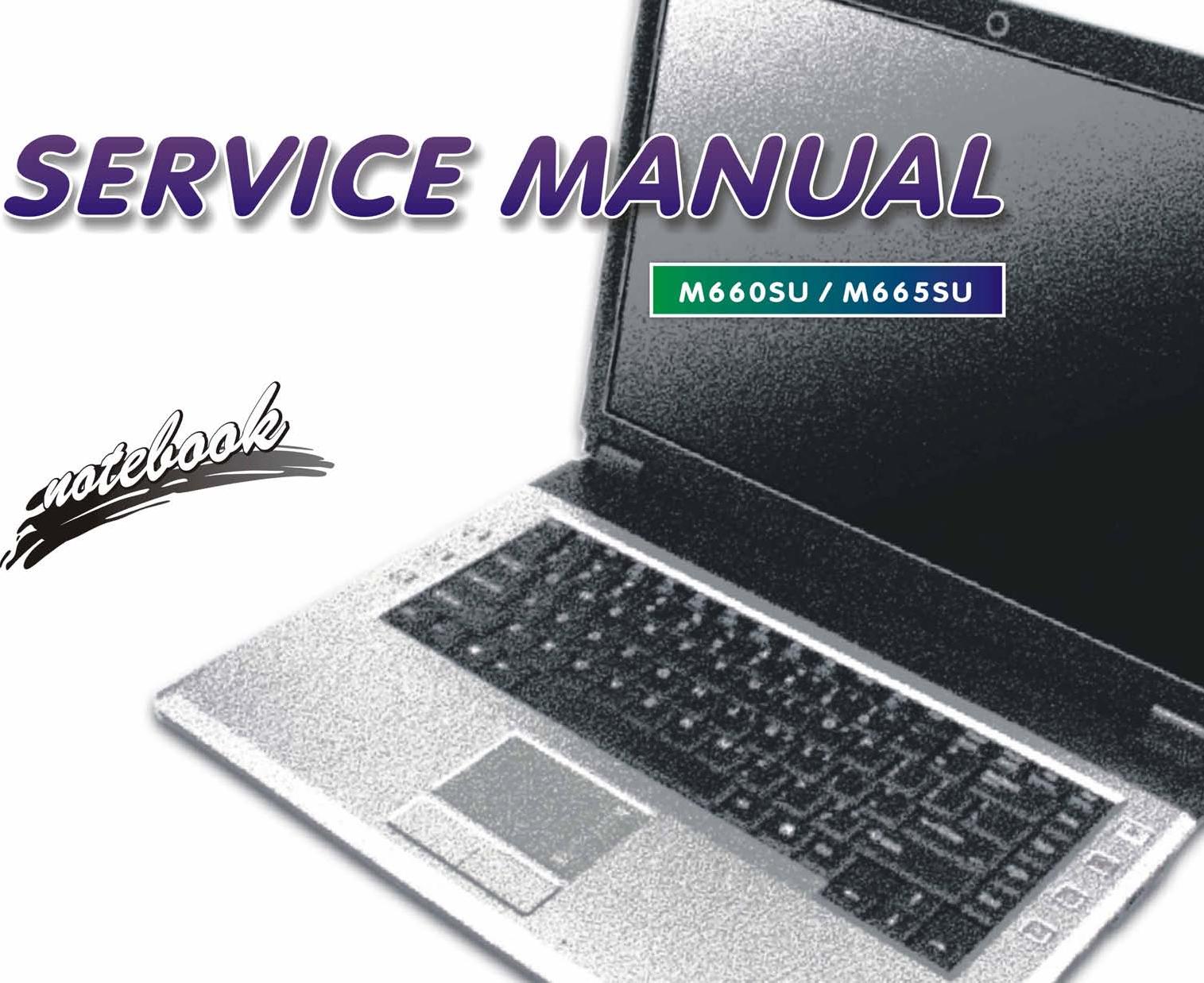 Clevo M660SU, M665SU Service Manual  Www s manuals com  Manual