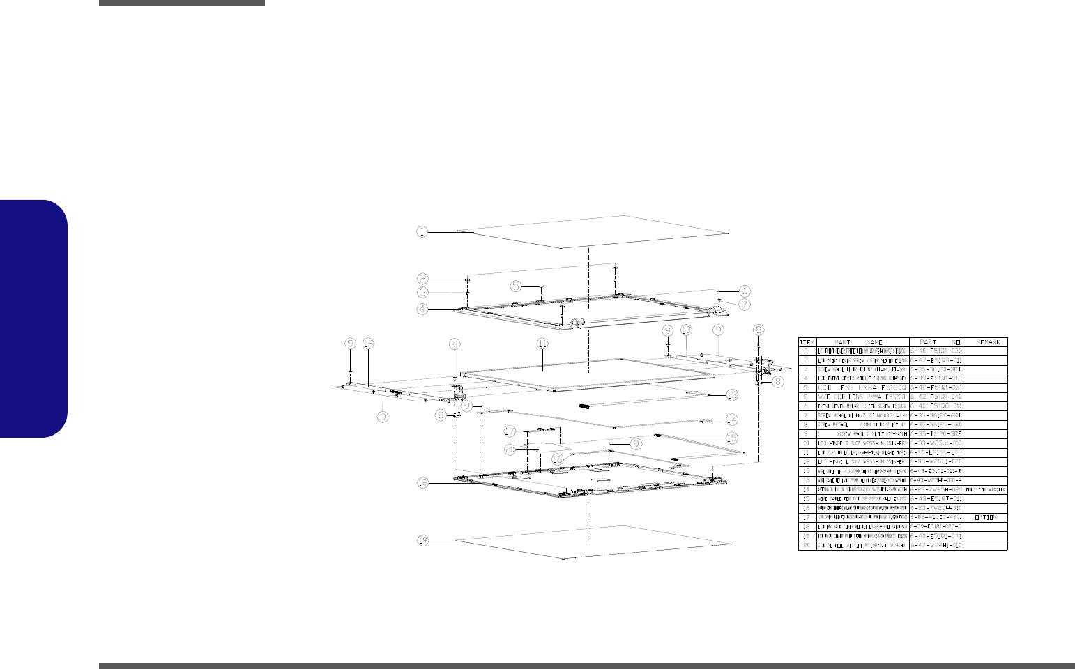 Clevo W251blq W253blq W253bzq W258bzq Service Manual S E Tec 1 6l L91 Wiring Diagram A 16 Lcd
