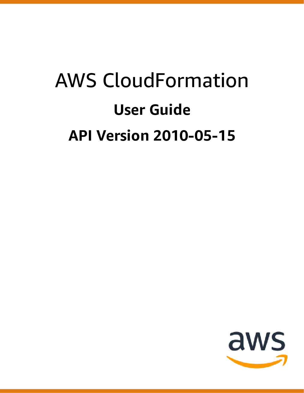 AWS CloudFormation User Guide Cloud Formation Gettng Started