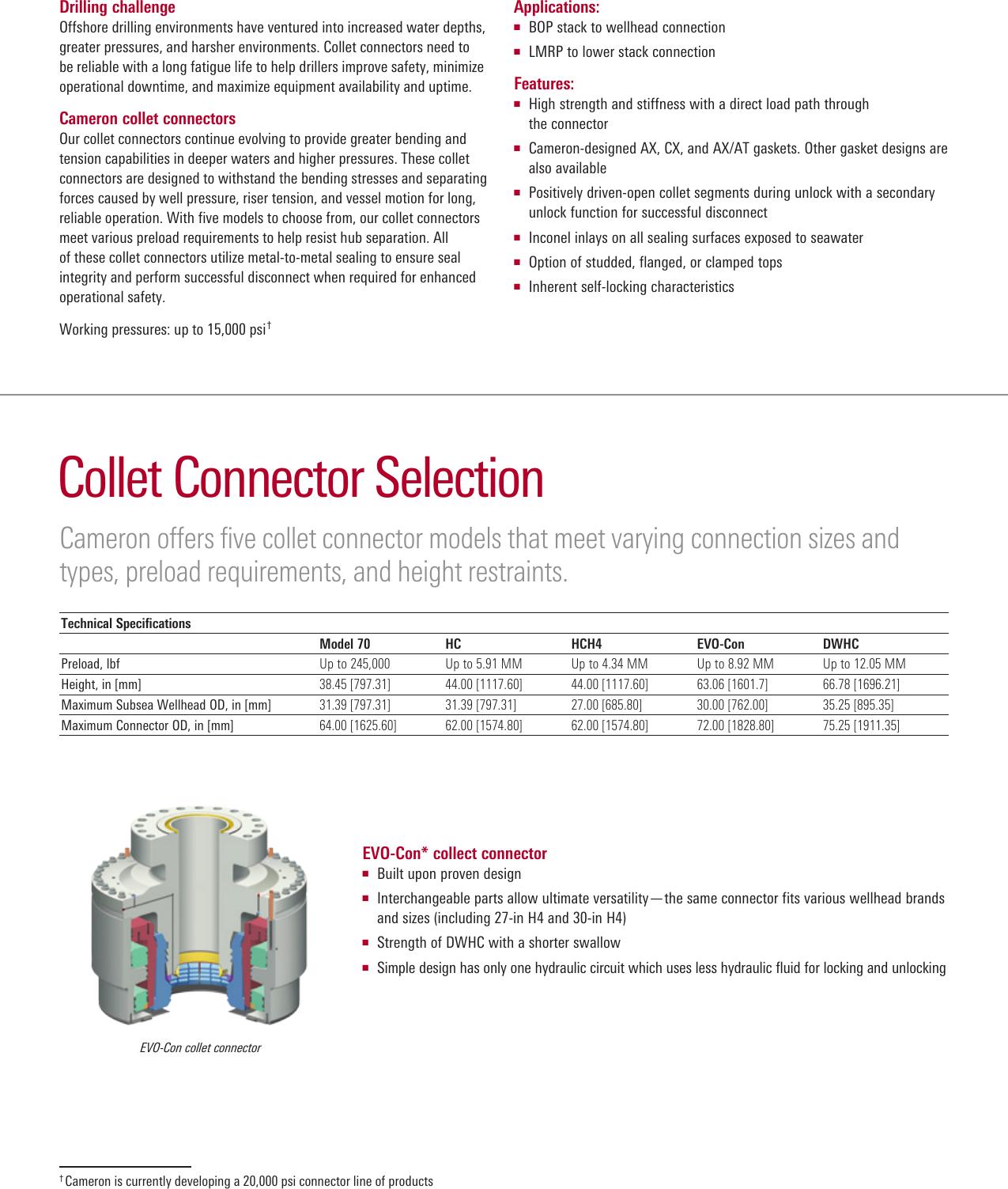 Collet Connectors For BOP Stacks connector brochure