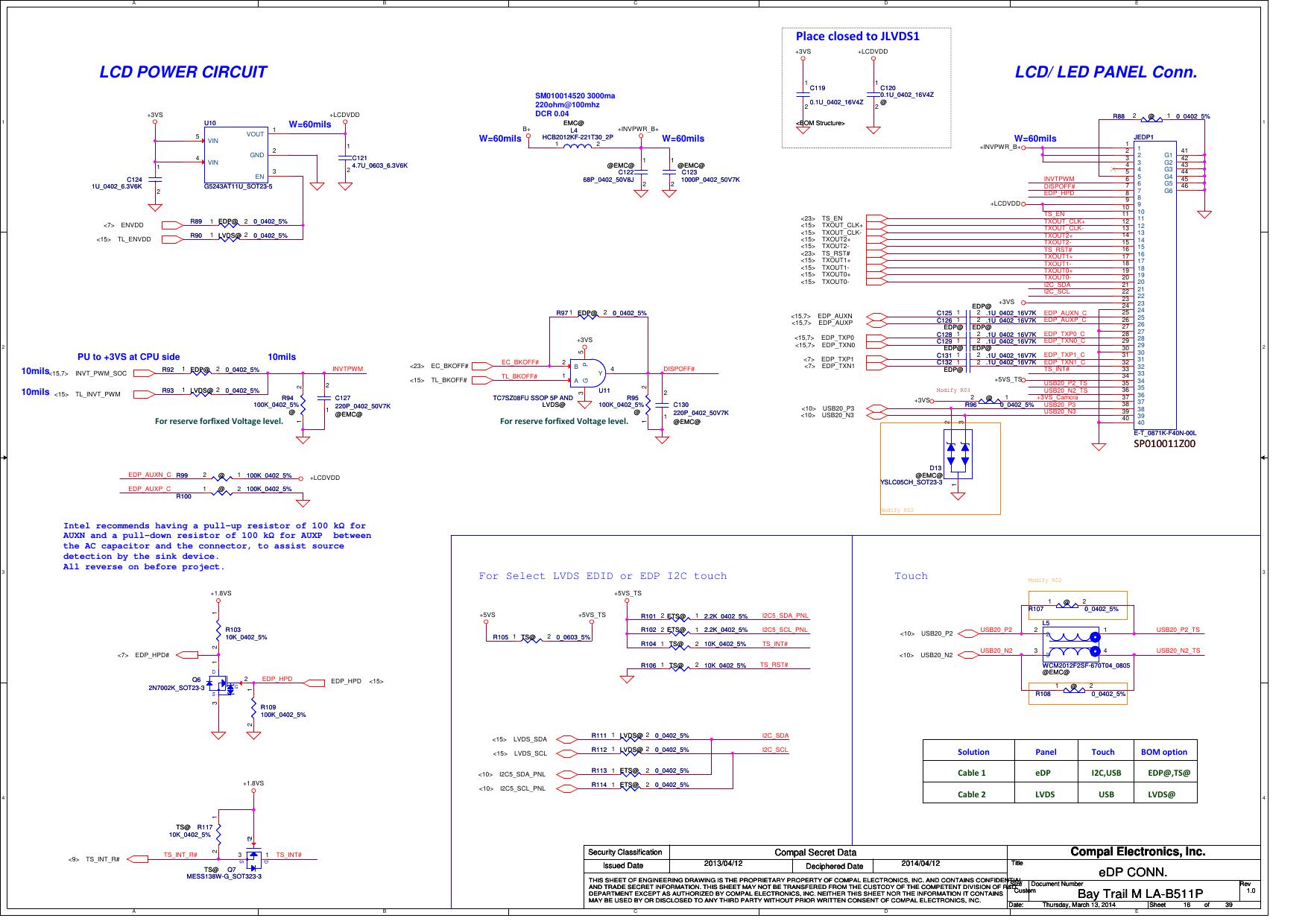 Compal LA B511P Schematics  Www s manuals com  R1 0 Schematics