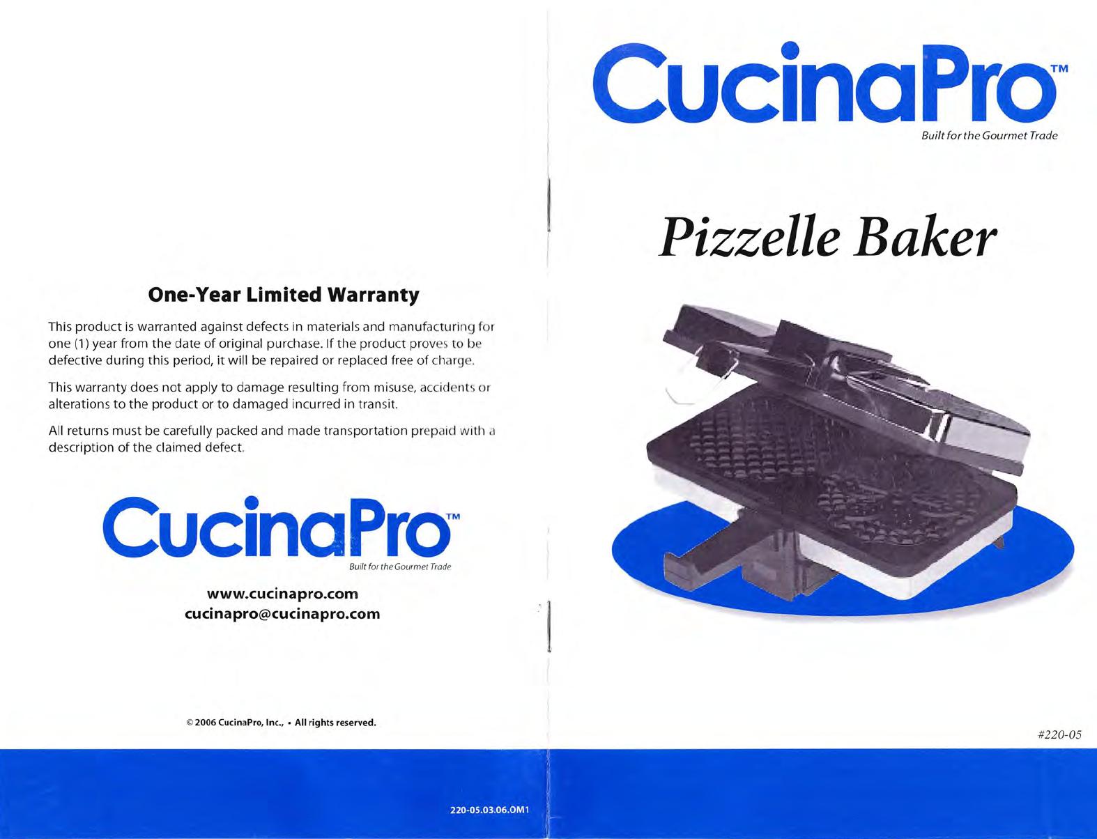 Cucinapro Pizzelle Baker Manual