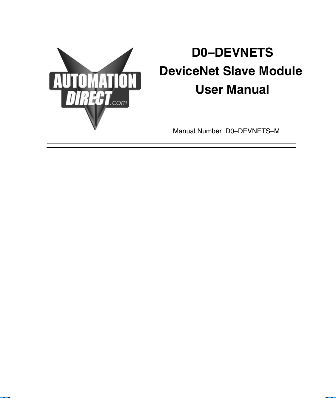 View The Manual D0devnetsm Devicenet Wiring Diagram