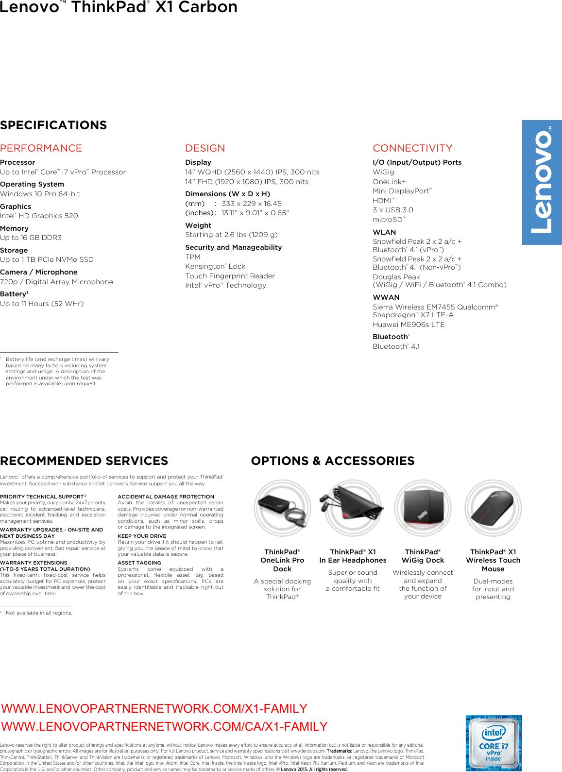 Lenovo ThinkPad X1 Carbon_DS Datasheet carbon 4th gen