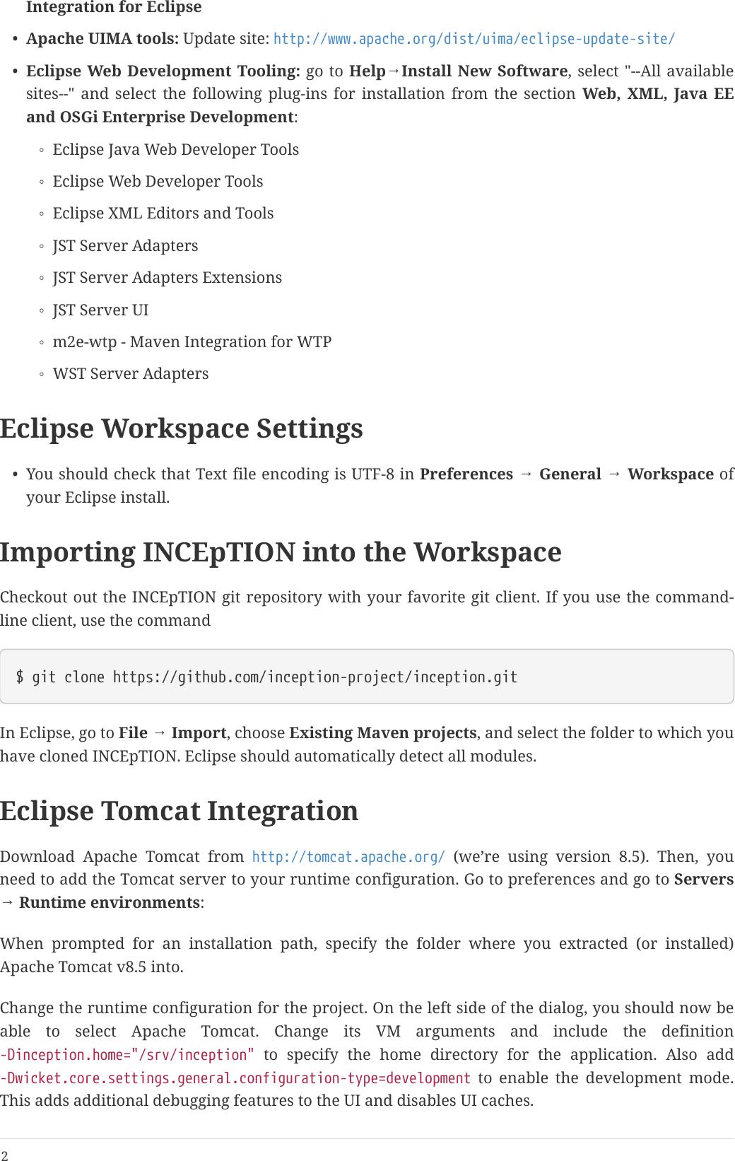 INCEpTION Developer Guide