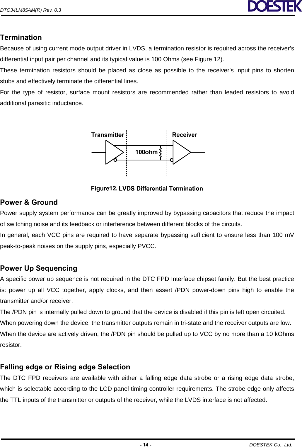 DTC34LM85AM Datasheet  Www s manuals com  R0 3 Doestek